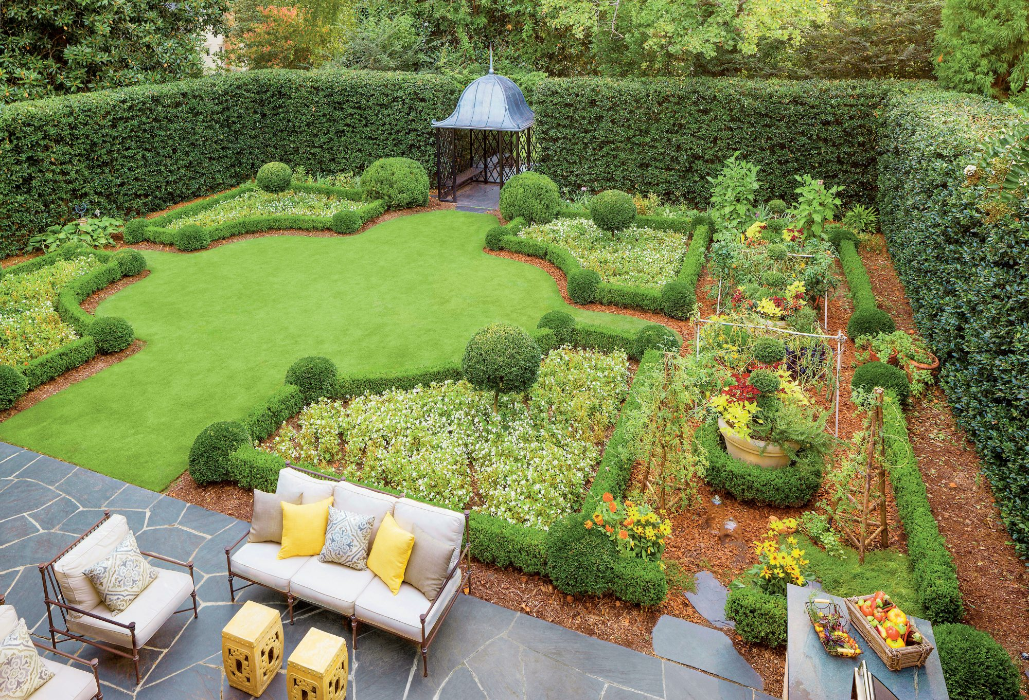 Suburban Kitchen Garden - Southern Living