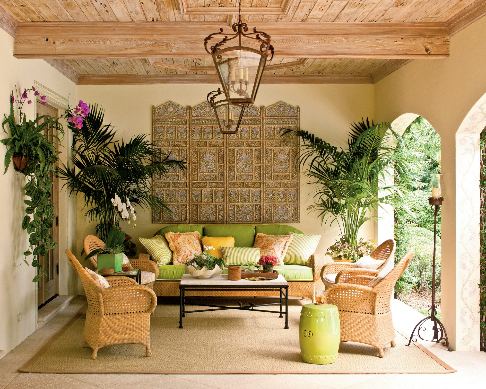Lush Tropical Loggia Southern Living