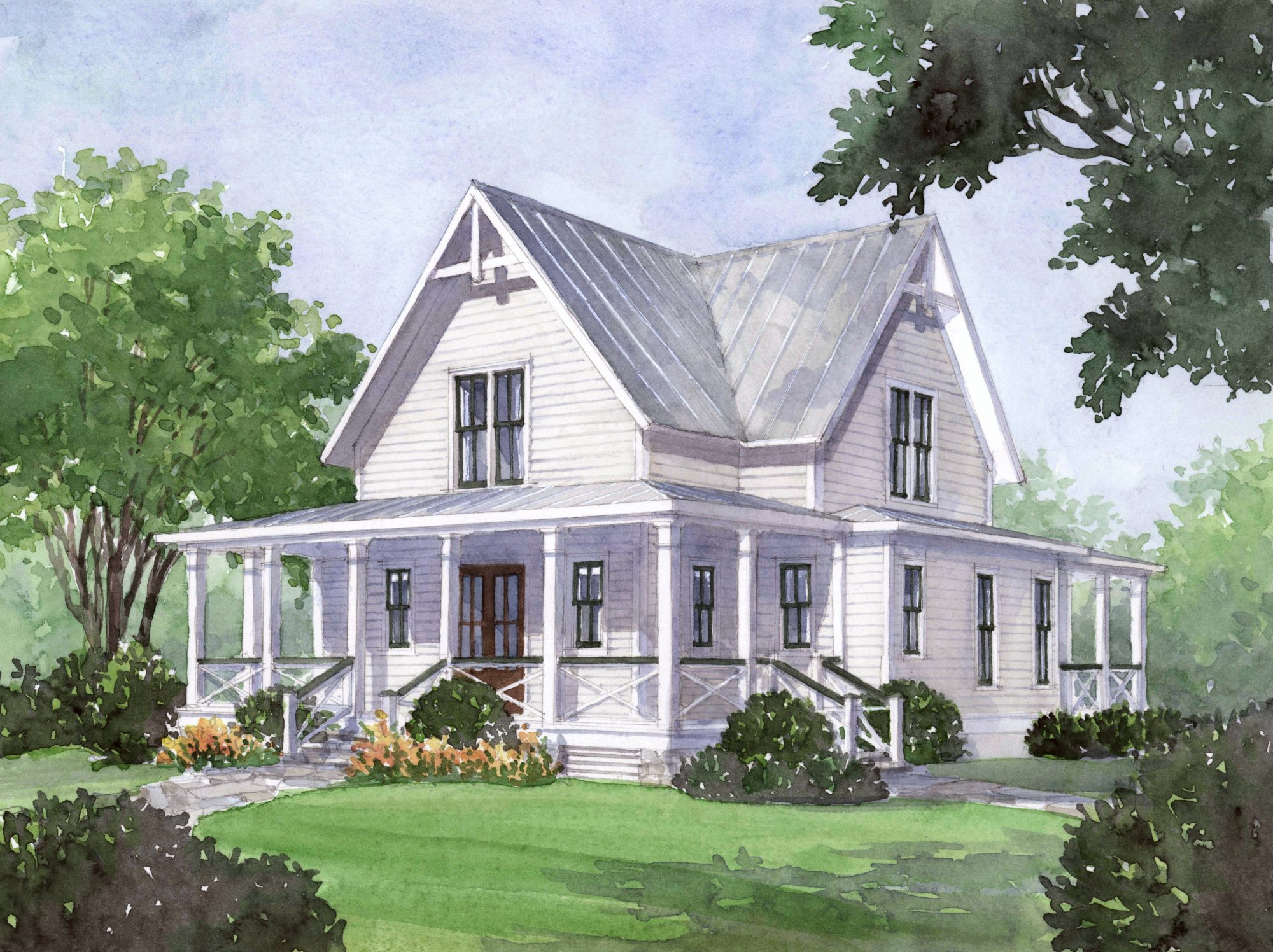 Farmhouse Plans Southern Living house plan of the month: four gables - southern living