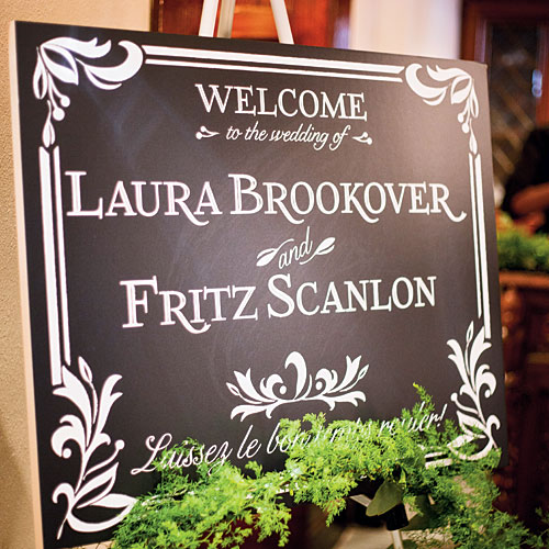 Hand-Lettered Welcome Sign