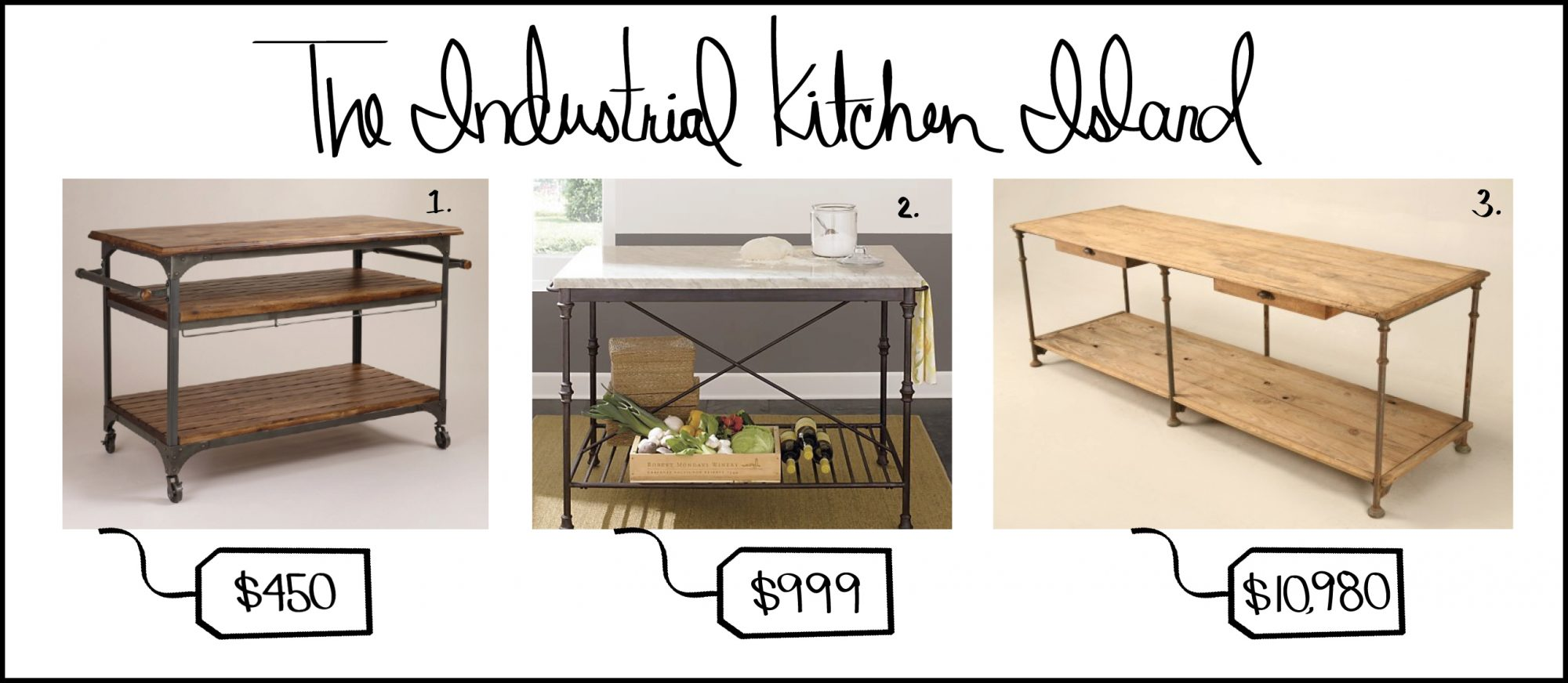 Beautiful Industrial Kitchen Island