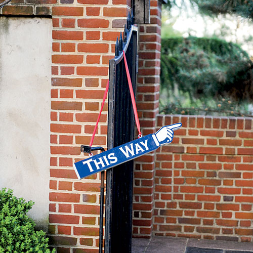 Quirky Directional Sign