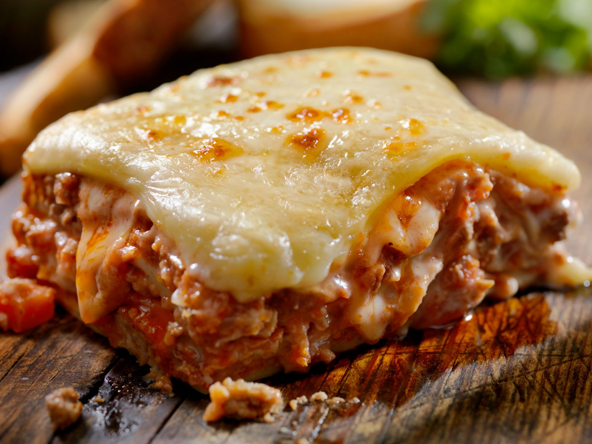 Cheesy Lasagna Slice