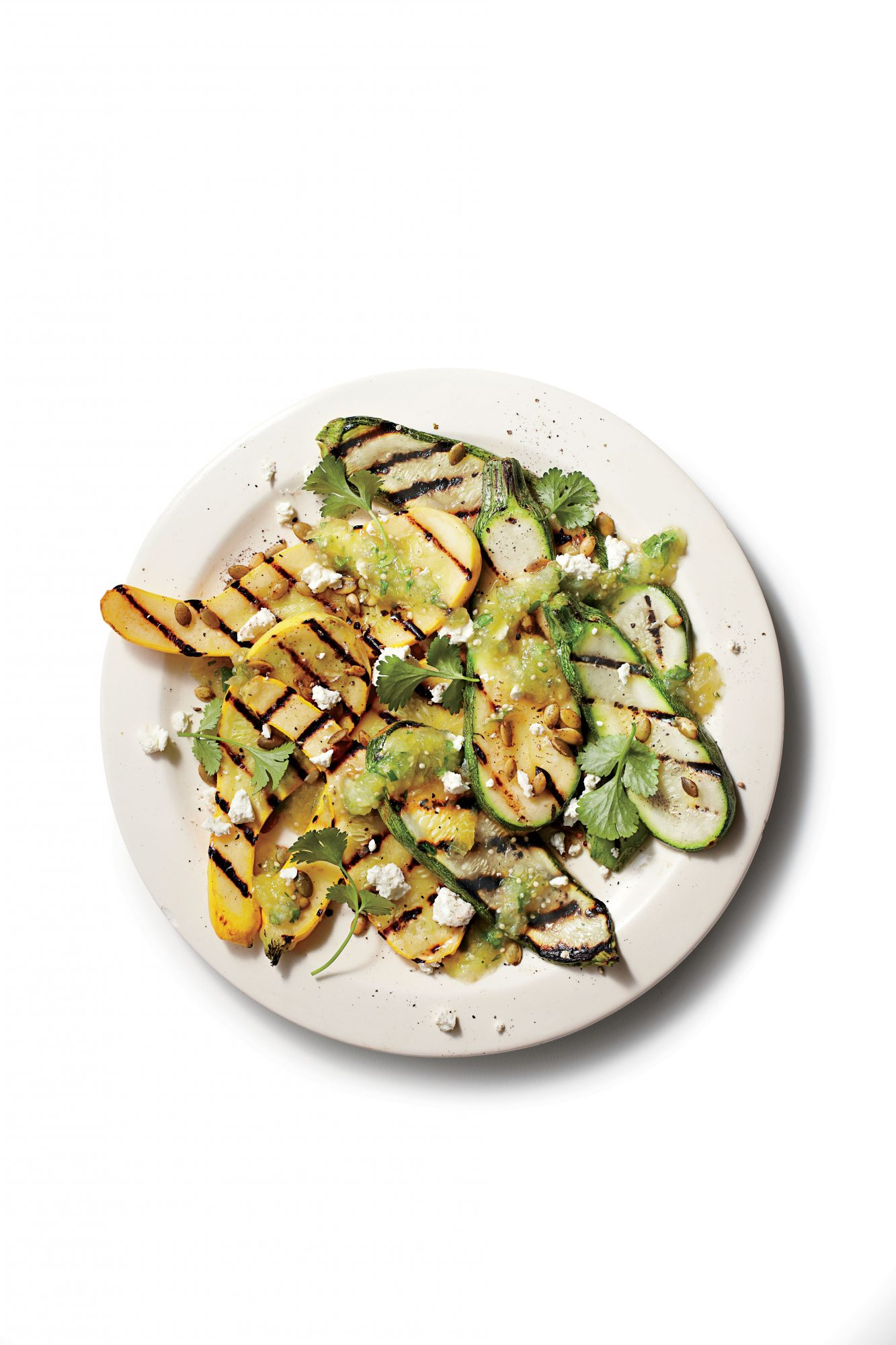 Grilled Squash and Salsa Verde
