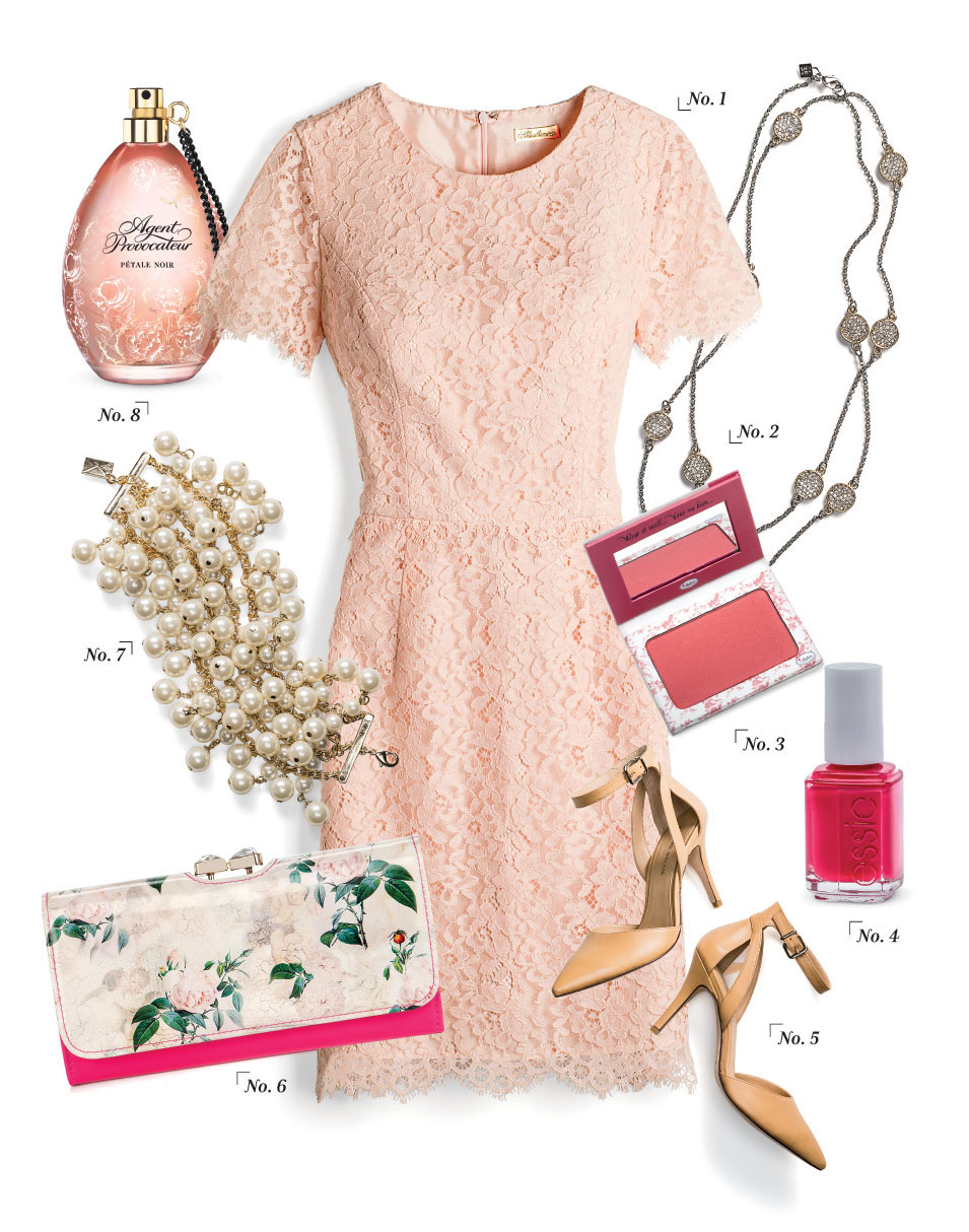 Romantic Rose Pattern Outfit