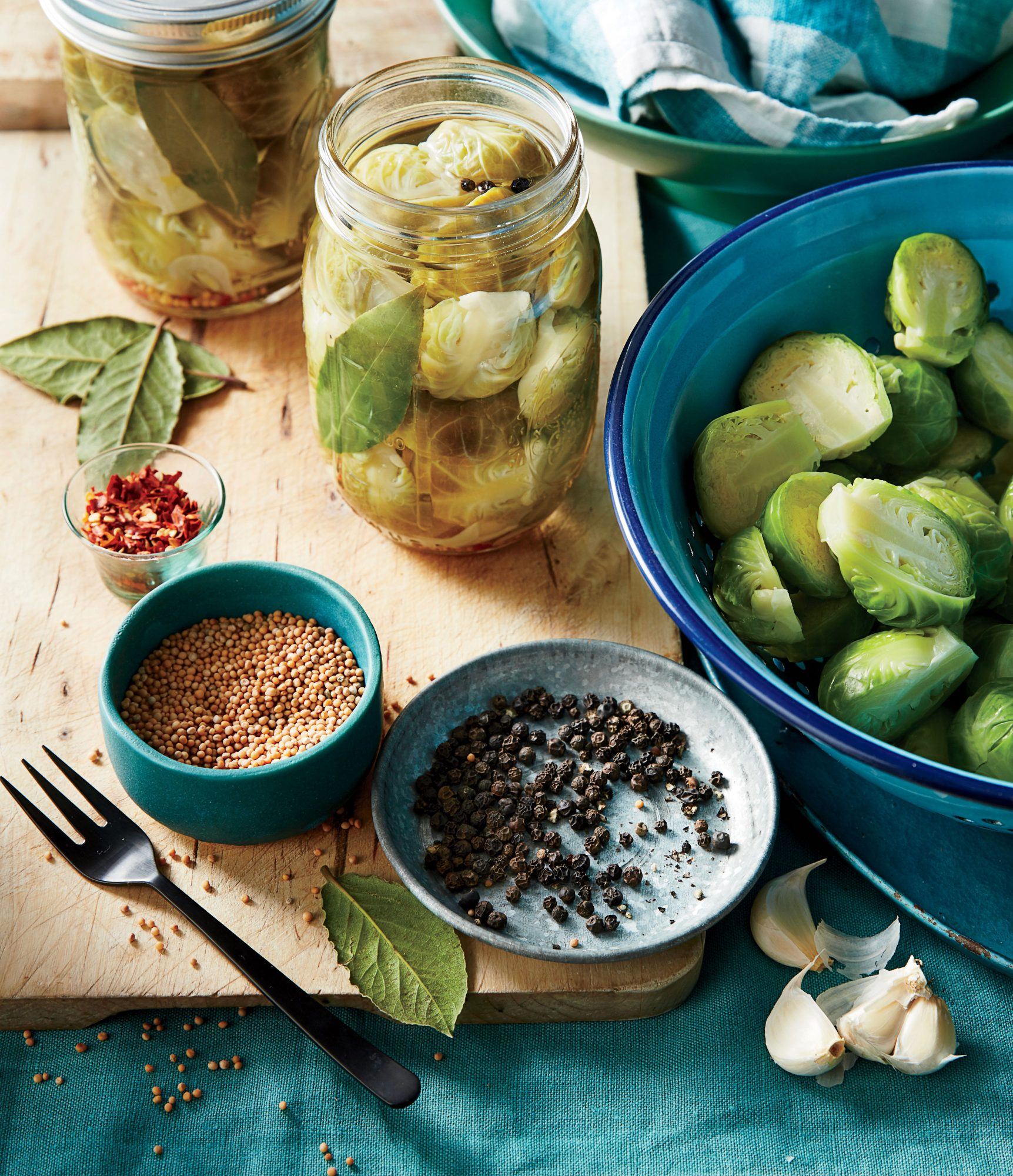Appetizer Quick Pickled Brussels Sprouts