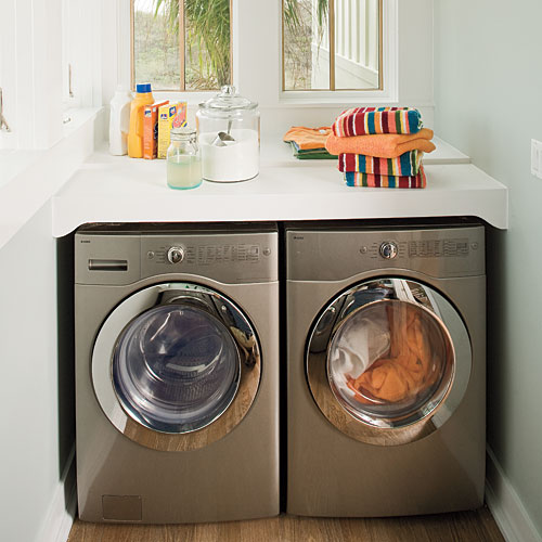 Organization Above the Washer and Dryer