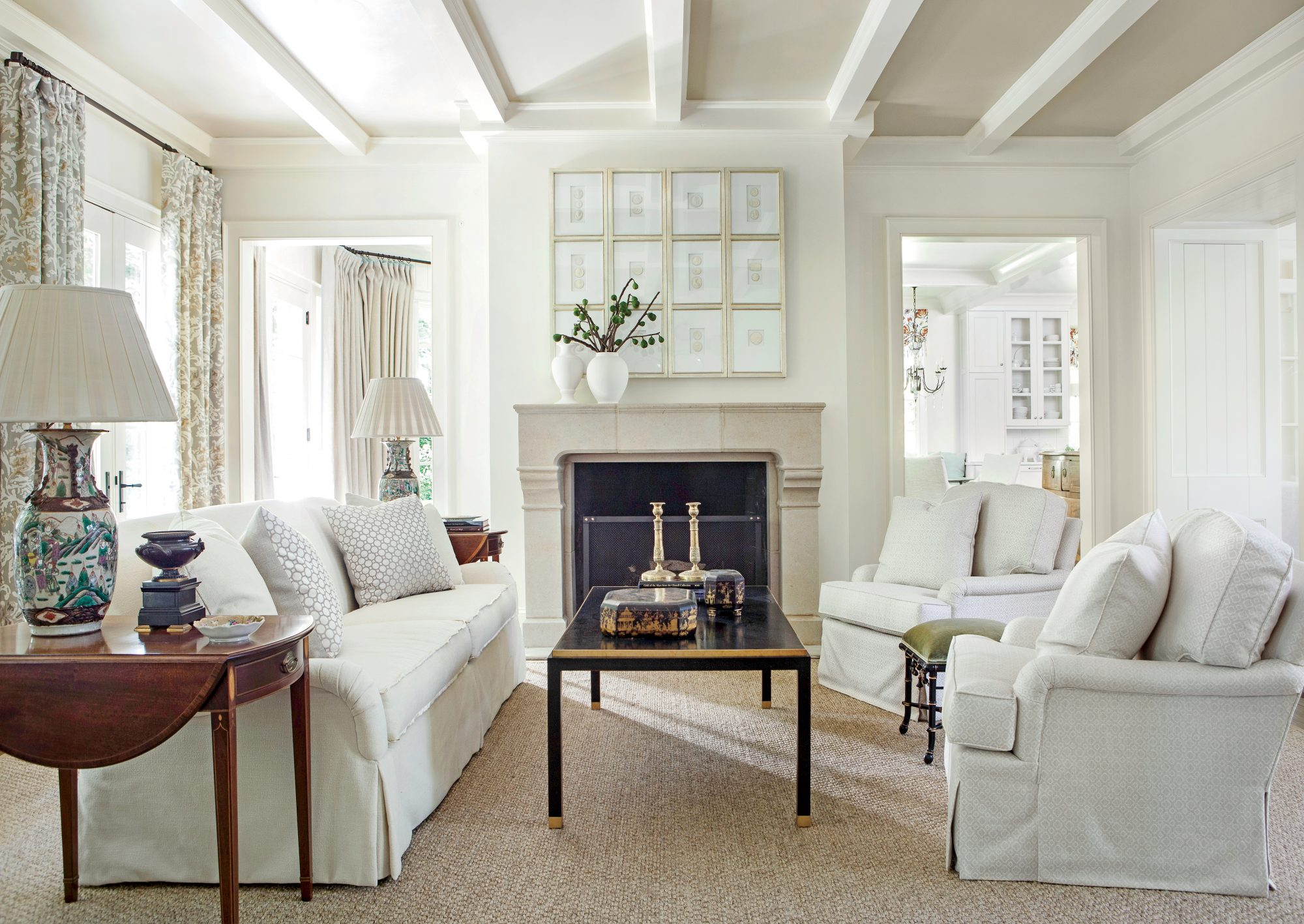 Serene White Living Room