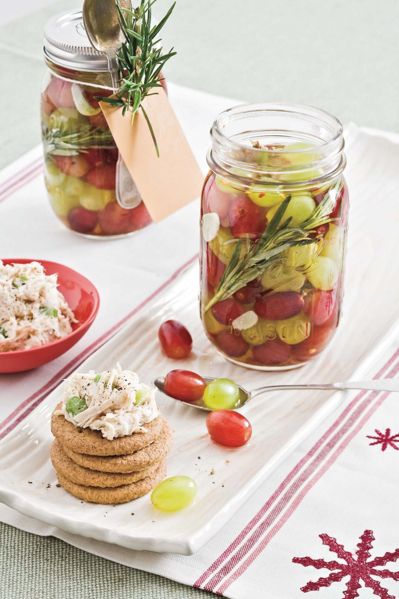 Pickled Grapes With Rosemary and Chiles