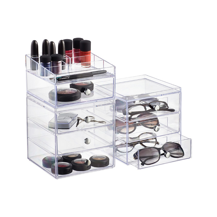 Clarity Stackable Makeup Storage Collection