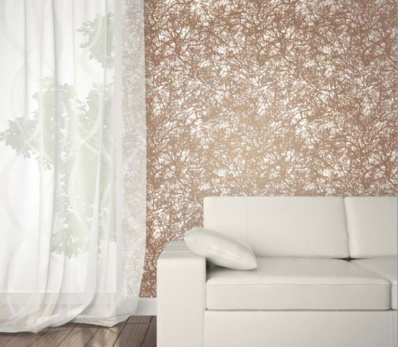 Forest Copper Designer Removeable Wallpaper
