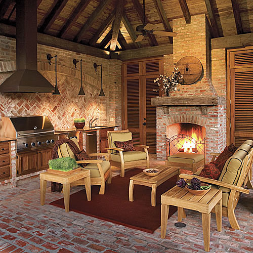 Pavilion Outdoor Fireplace