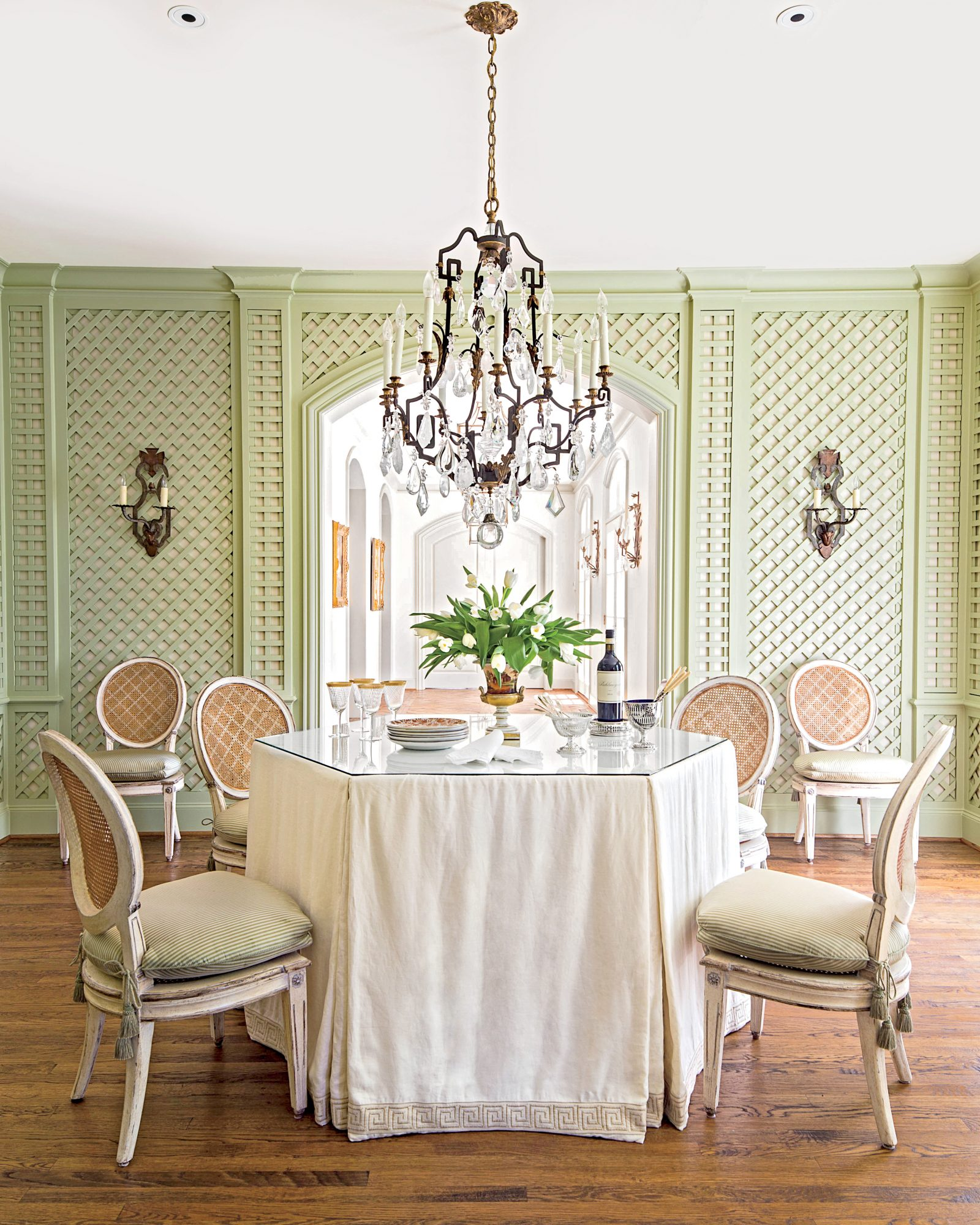 Dining Room Table with Skirt
