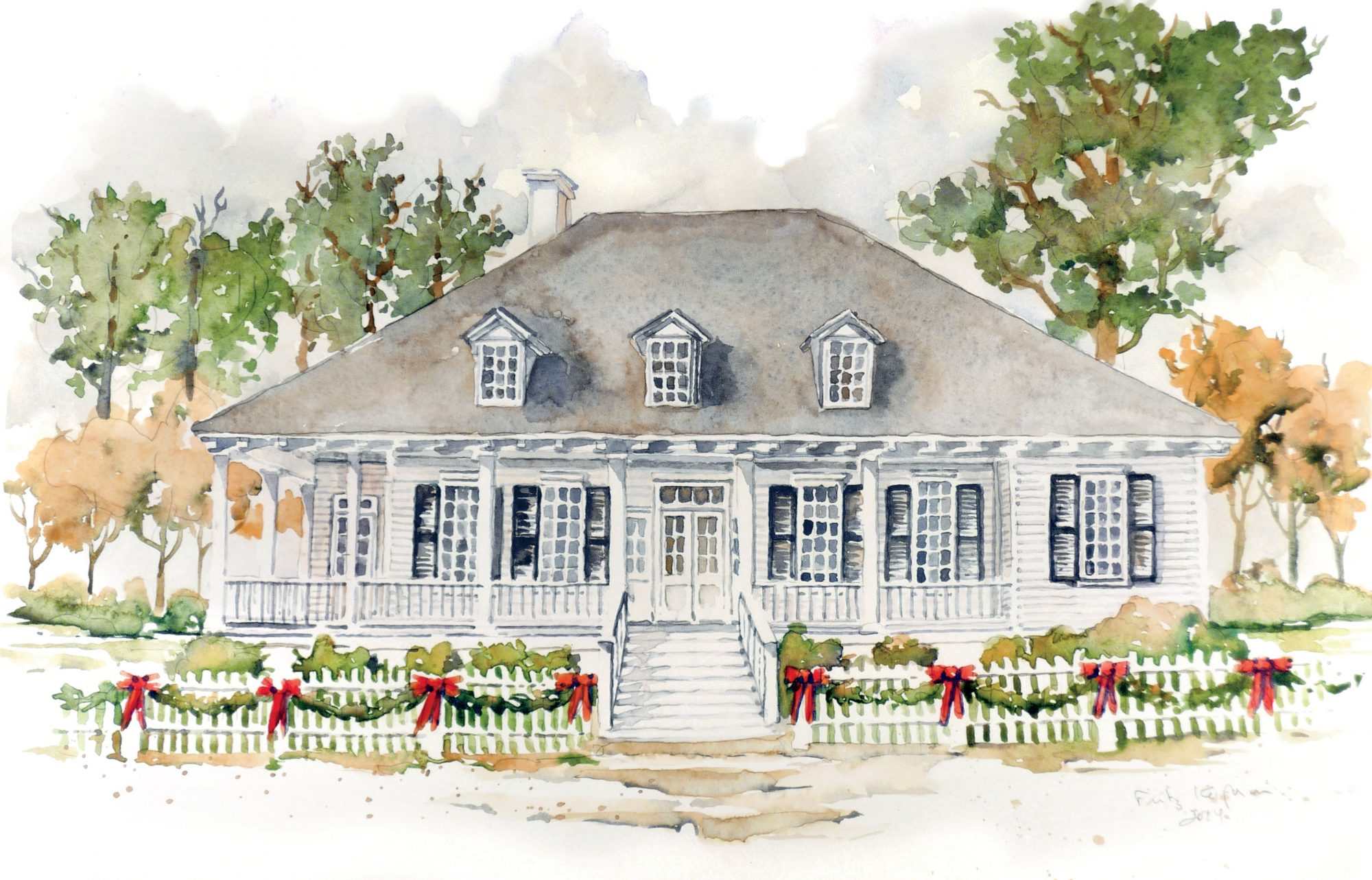 Classic Creole Home Illustration