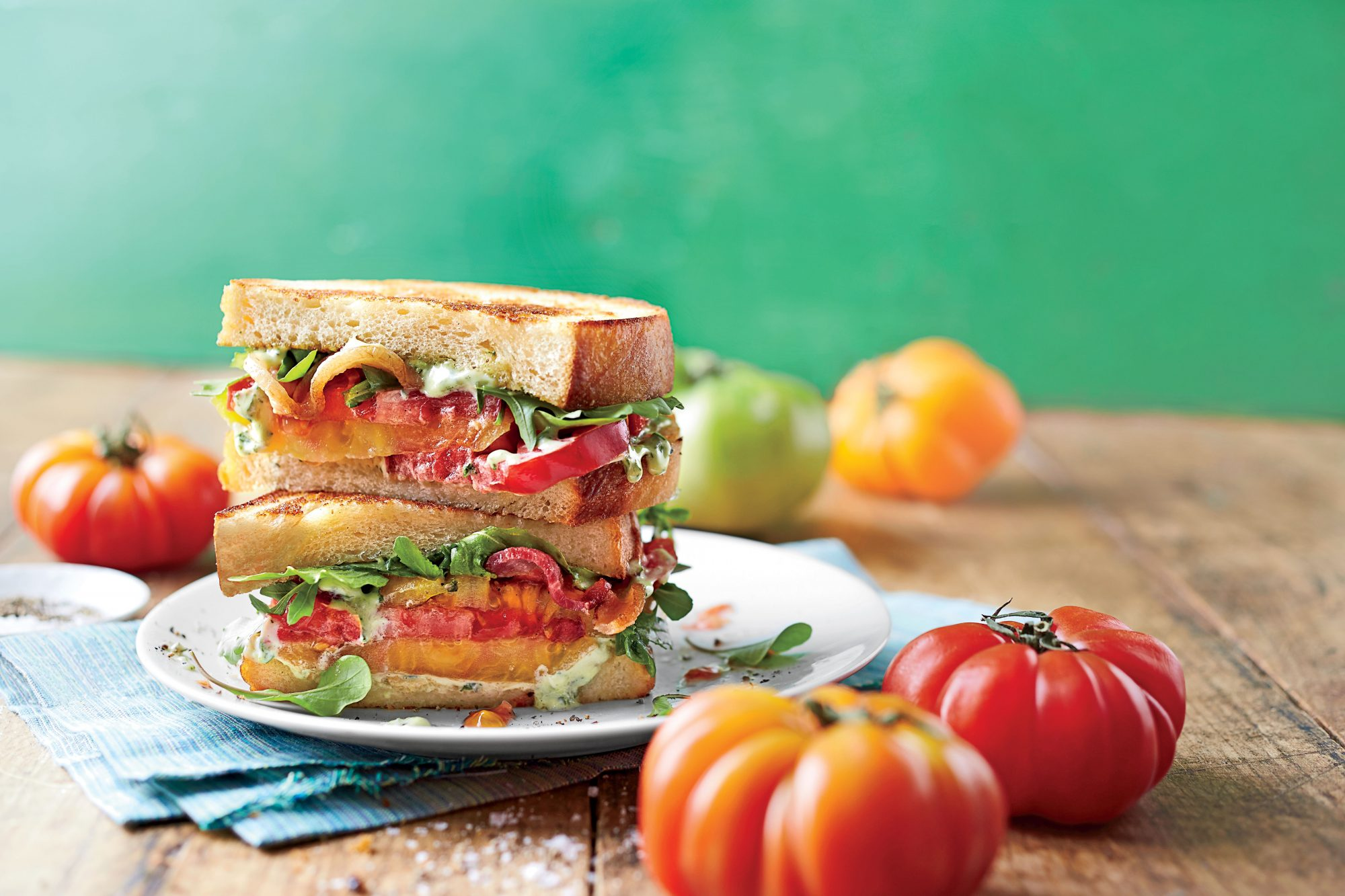 Over-the-Top Tomato Sandwich