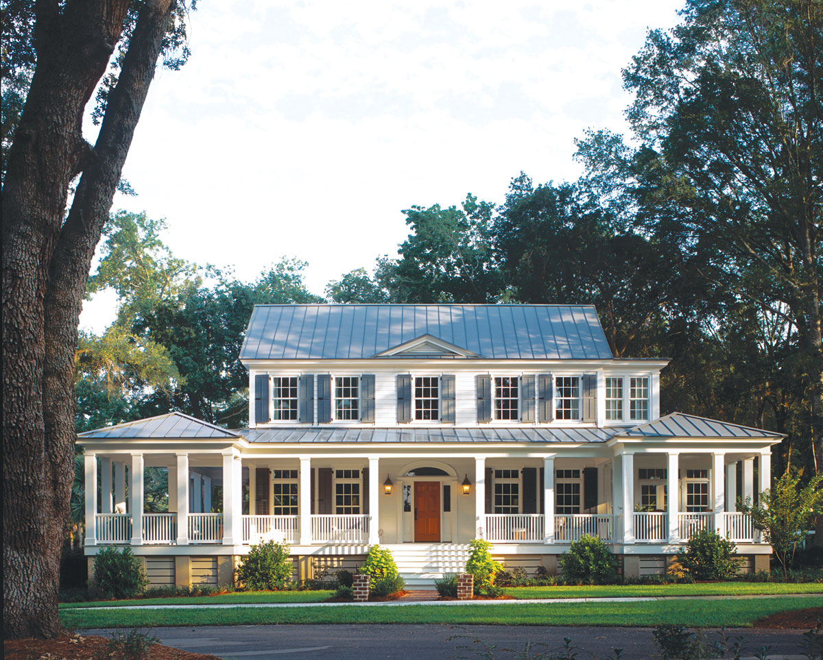 17 house plans with porches southern living for House plans with large front and back porches