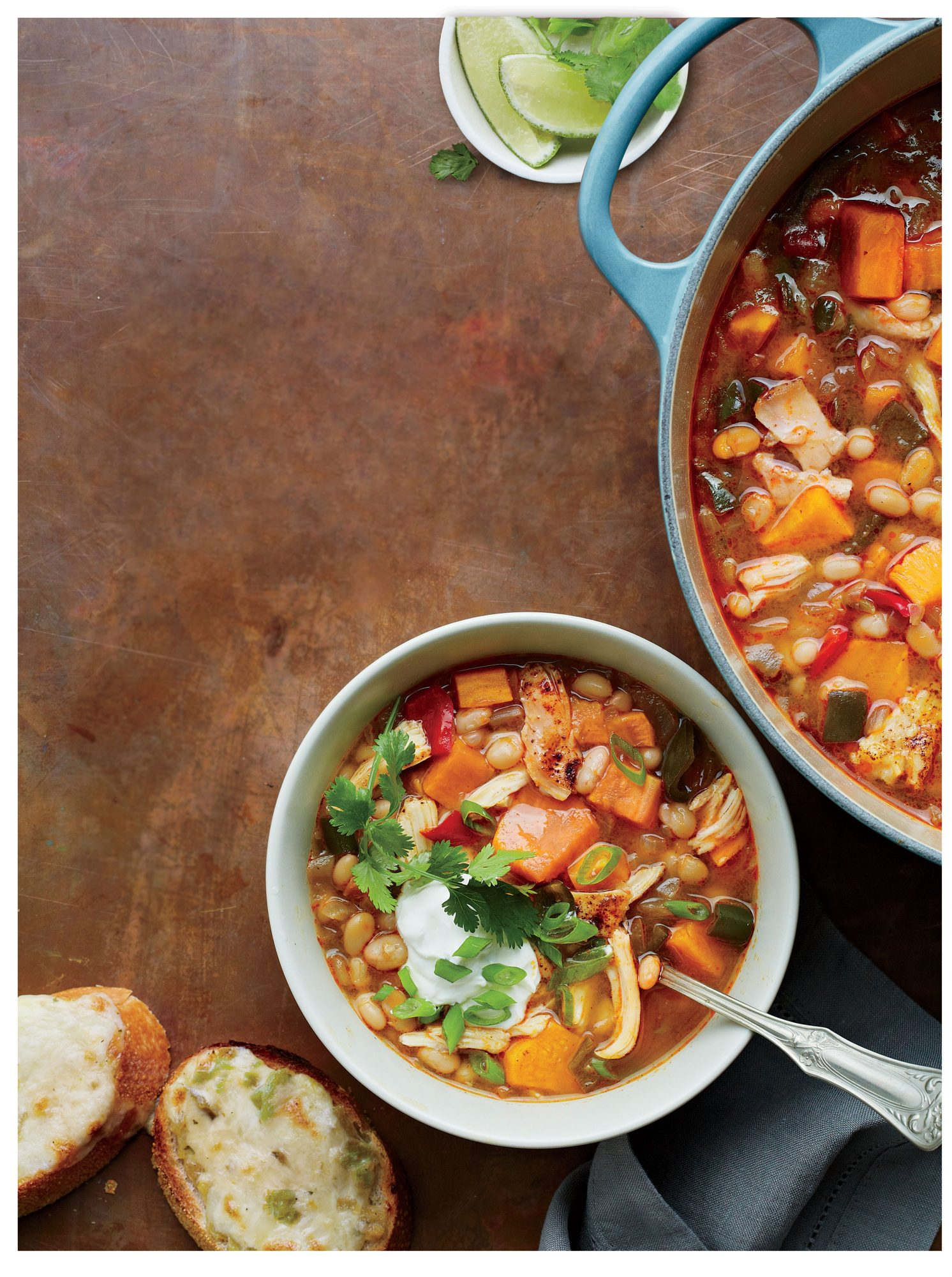 Tex-Mex Chicken Chili with Lime