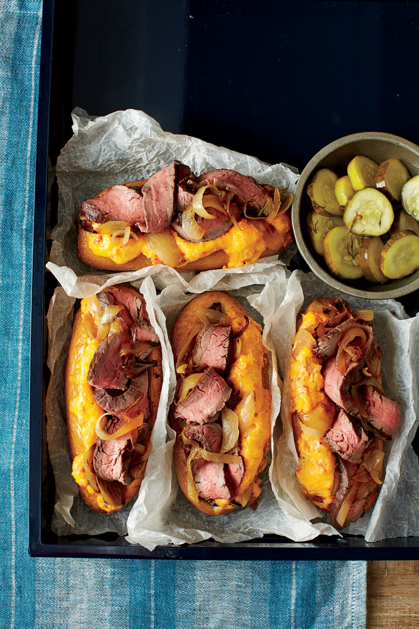 Southern Cheese Steak Sandwiches