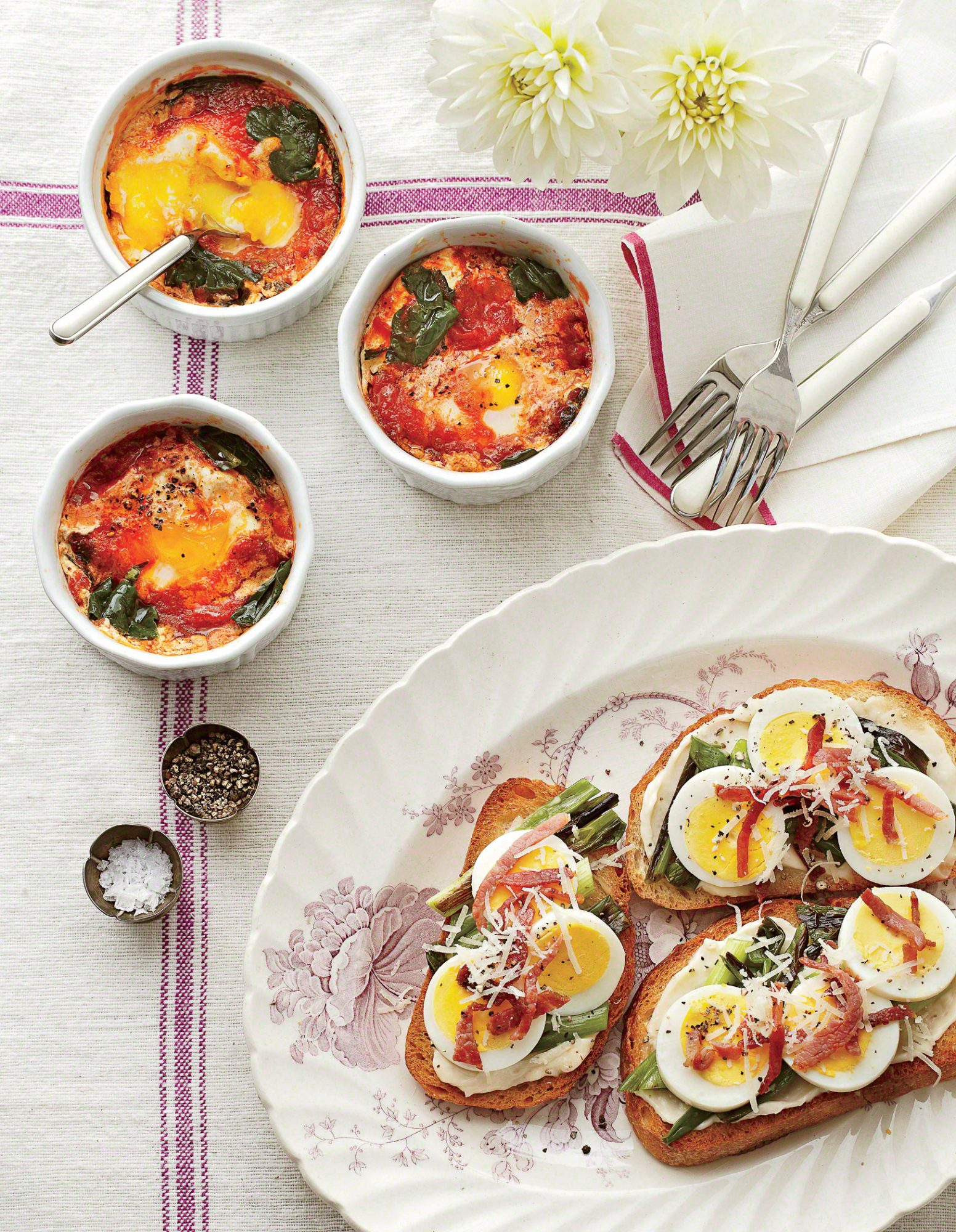 Country-Ham-and-Egg Toasts