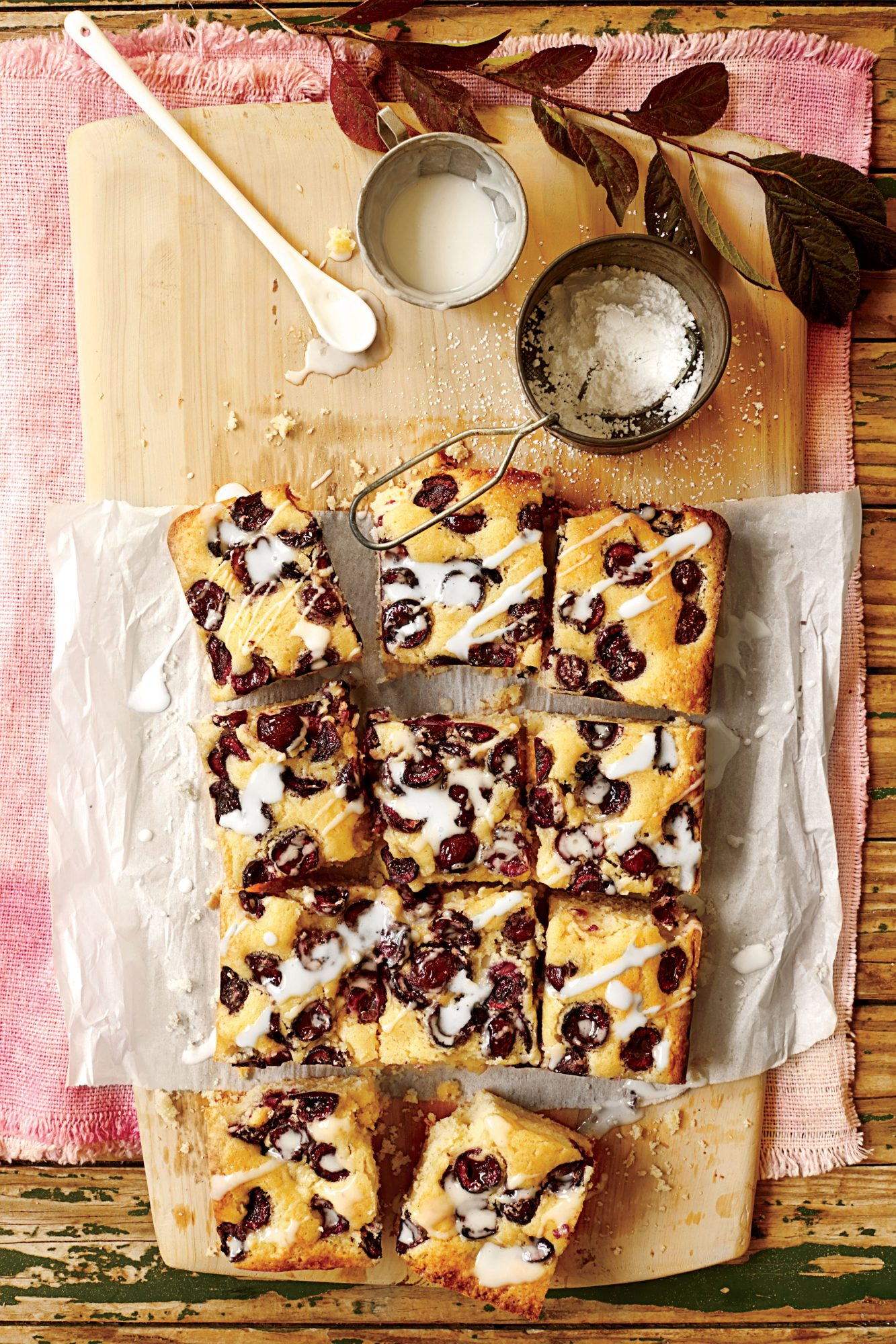 Buttermilk-Glazed Cherry Sheet Cake