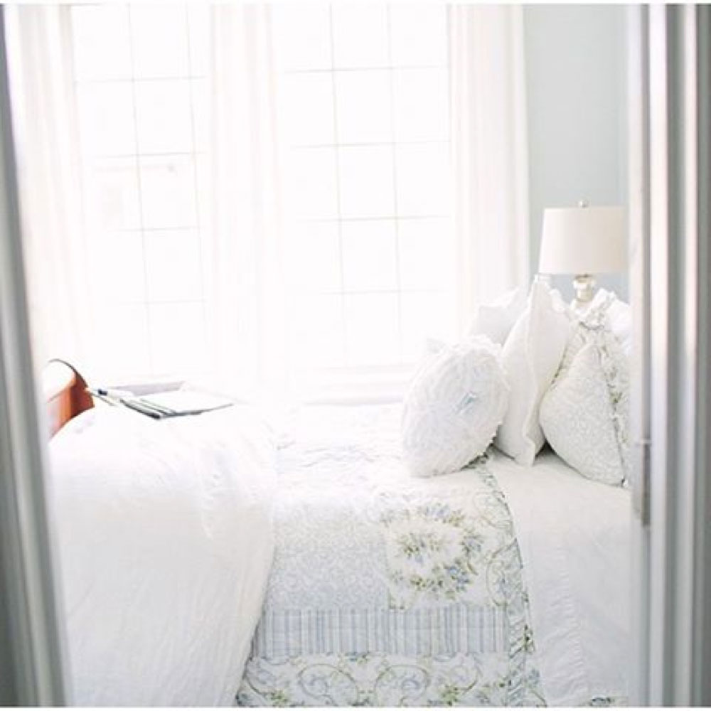 Peaceful Blue and White Bedroom