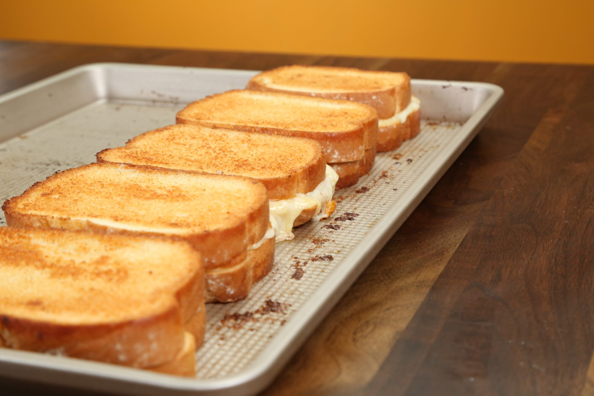 Sheet Pan Grilled Cheese Sandwiches