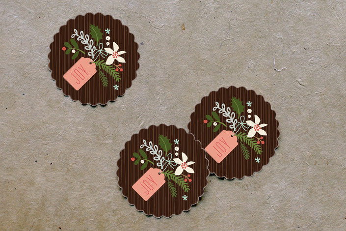 Minted Winter Pines Large Stickers
