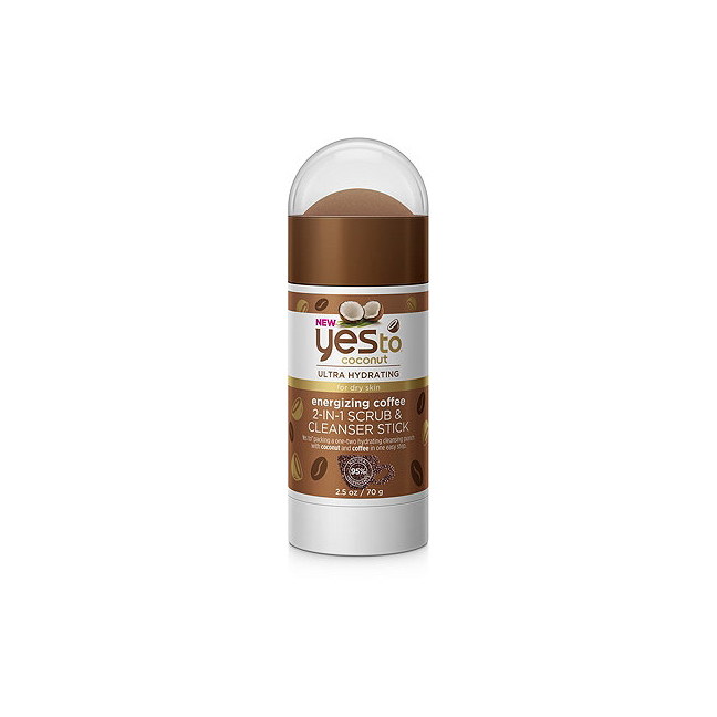 Yes To Coconut Ultra Hyrdrating Energizing Coffee 2-in-1 Scrub & Cleanser Stick