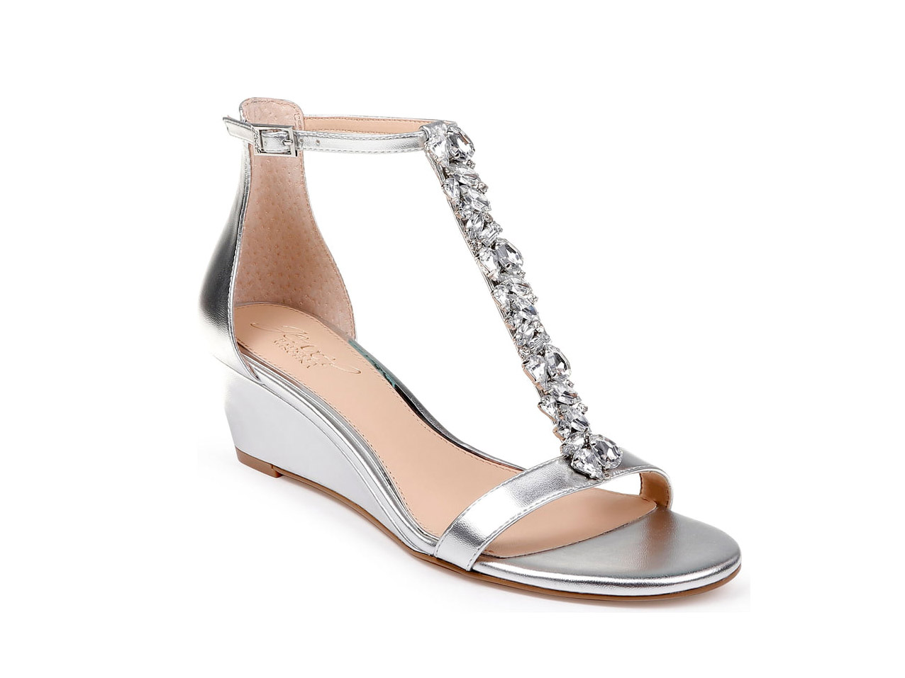 Jewel Badgley Mischka Darrell Embellished Wedge Sandal