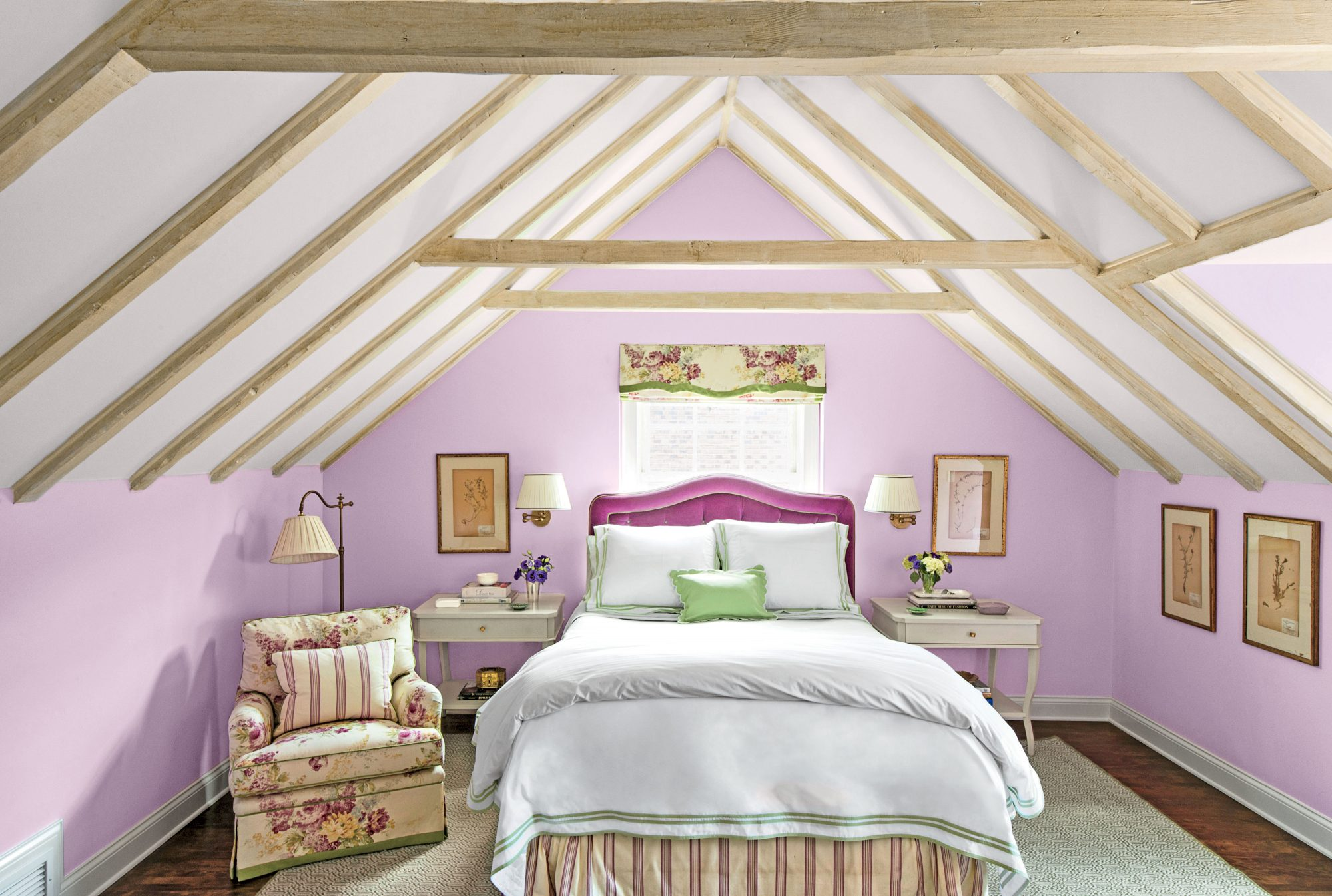 Purpler paint colors southern living for Southern bedroom designs