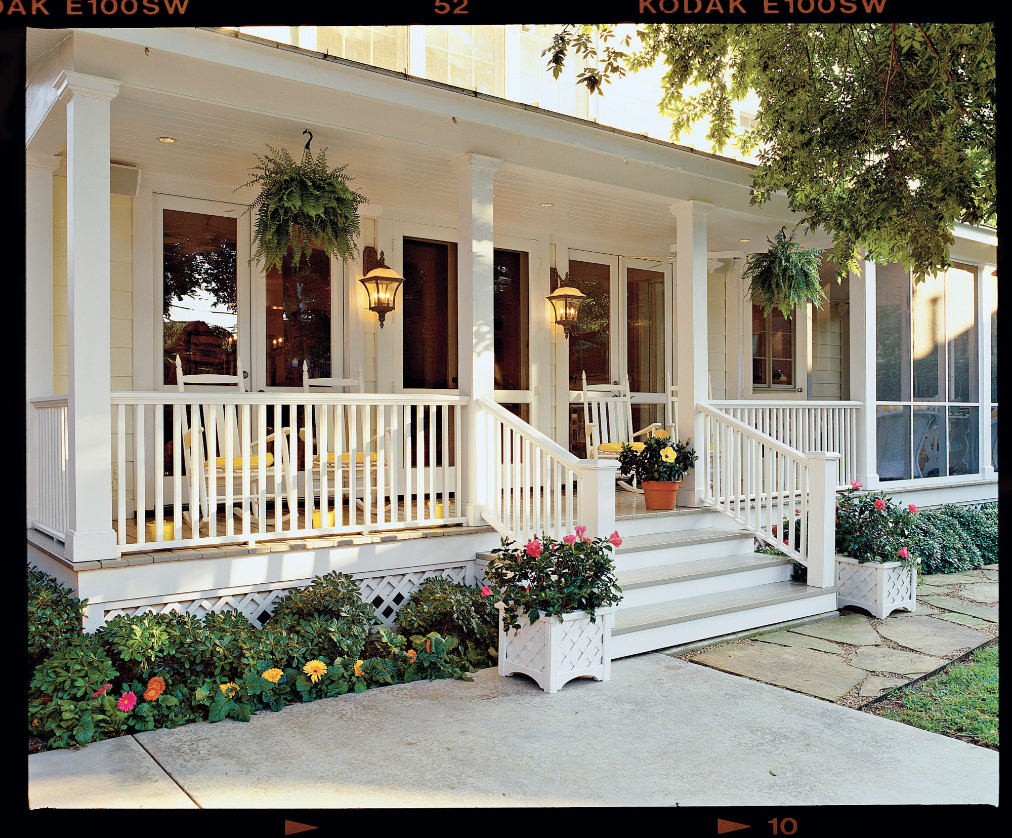 exceptional 10 foot porch columns #6: Classic White Porch