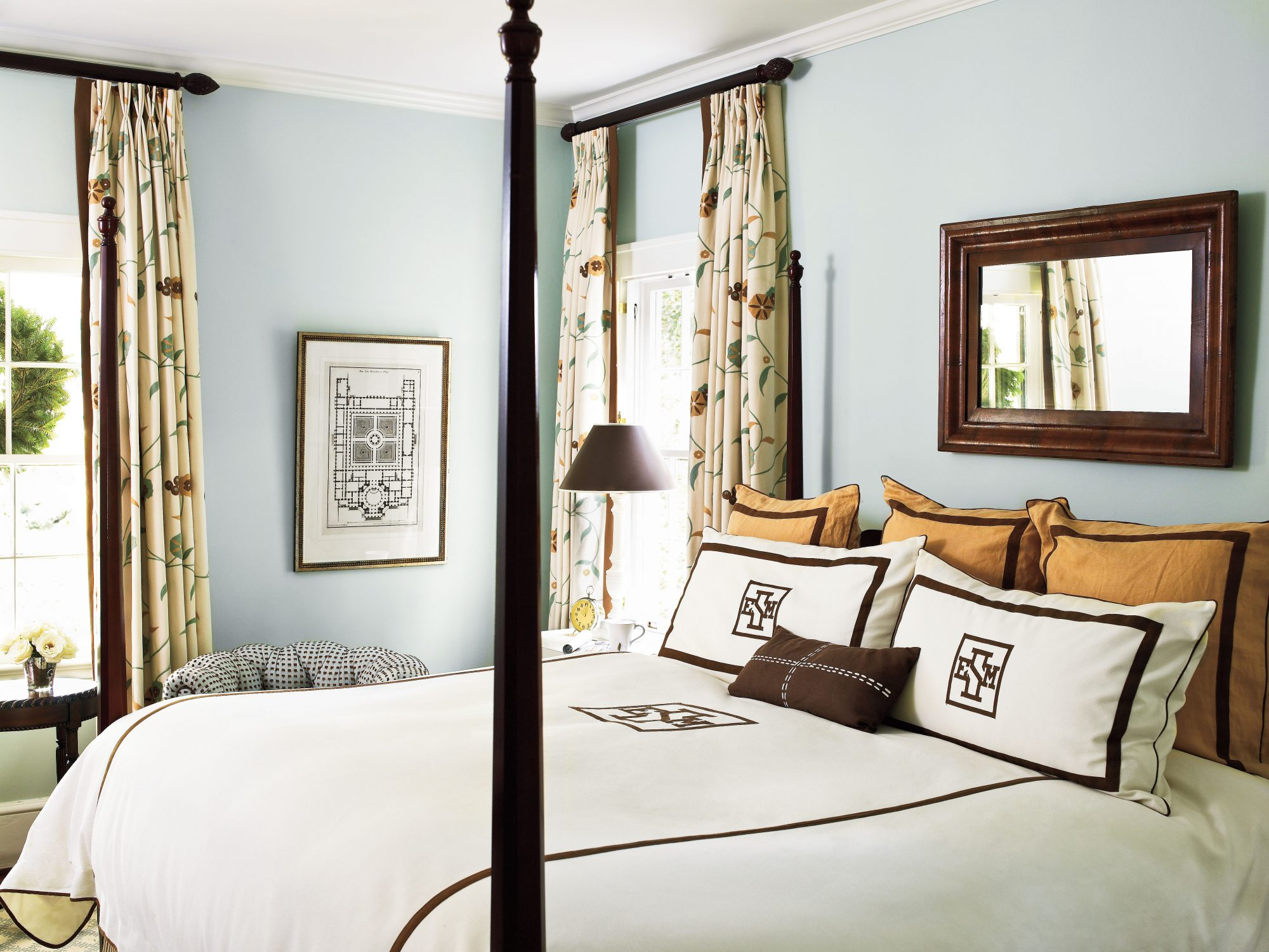 Chocolate And Blue. Blue And Brown Master Bedroom