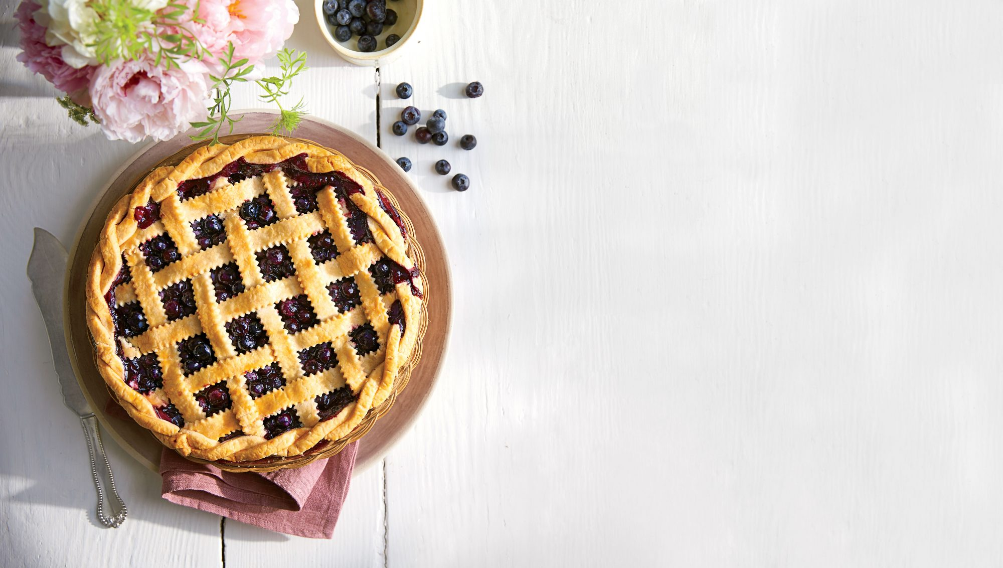 Pie Tips with Blueberry Pie