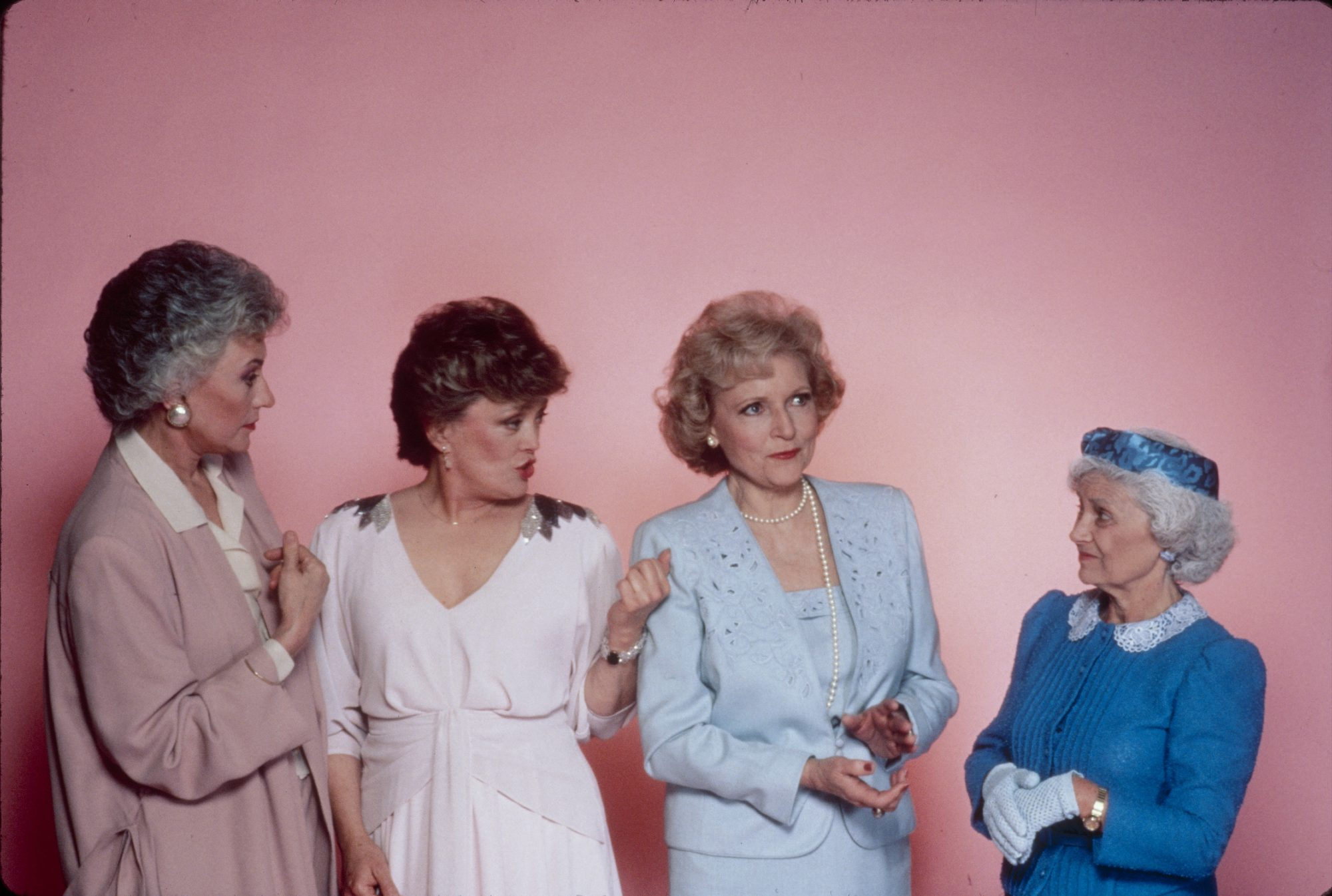 Golden Girls on Pink Wall