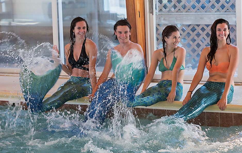 Mermaids Splashing at Sanderling Resort