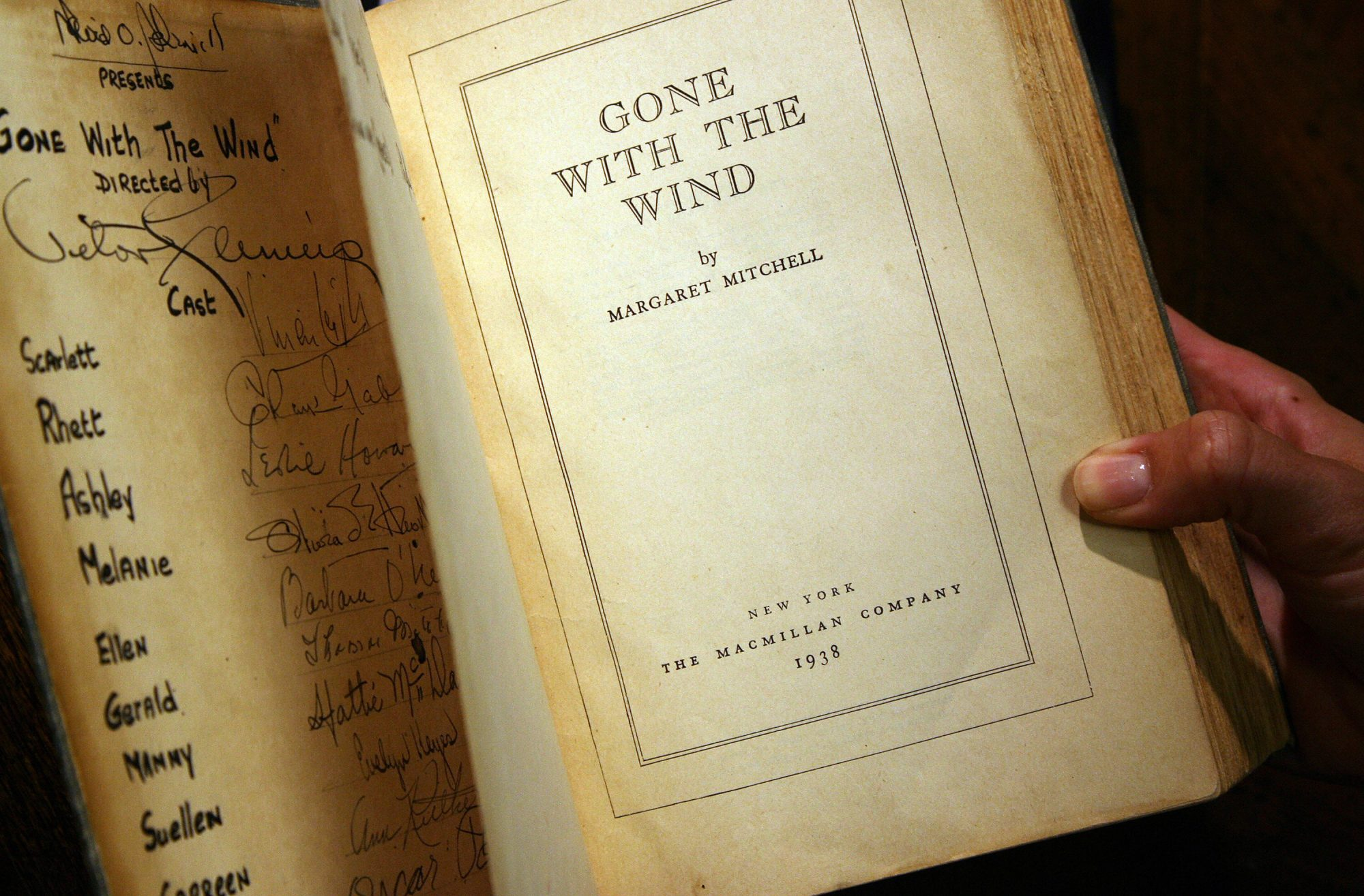 Signed copy of  Gone With the Wind  by Margaret Mitchell