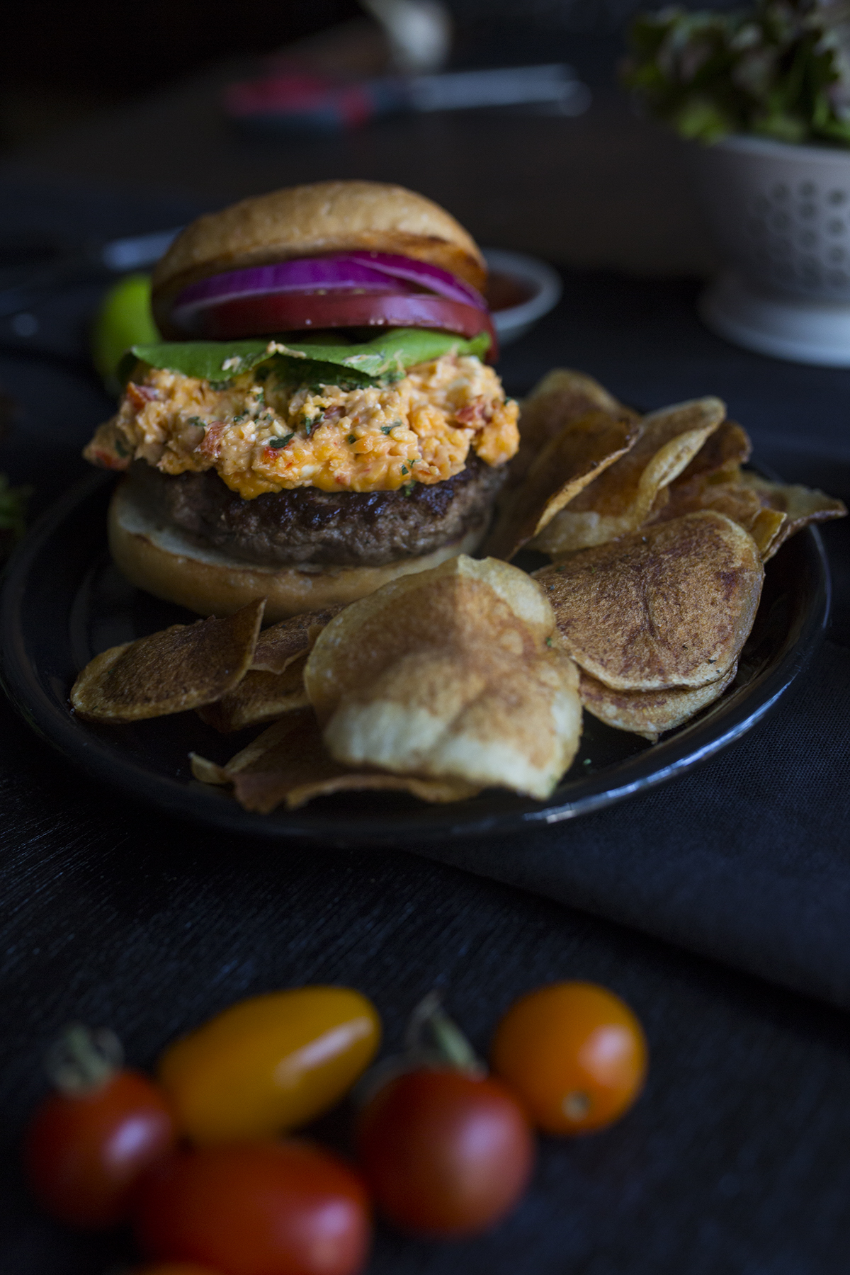 Krenz Ranch Burger with Pimiento Cheese