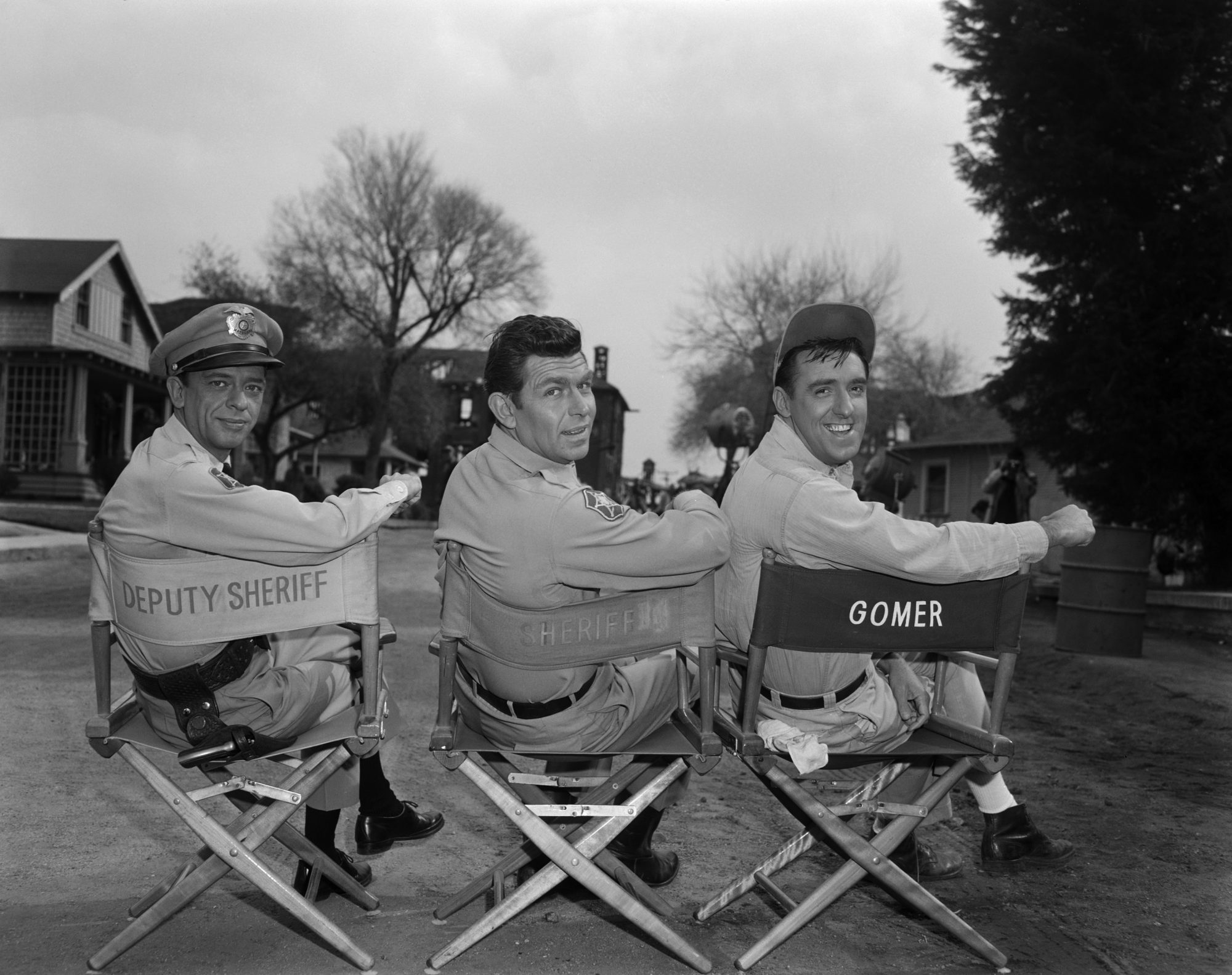 On the set of the Andy Griffith Show during season 4
