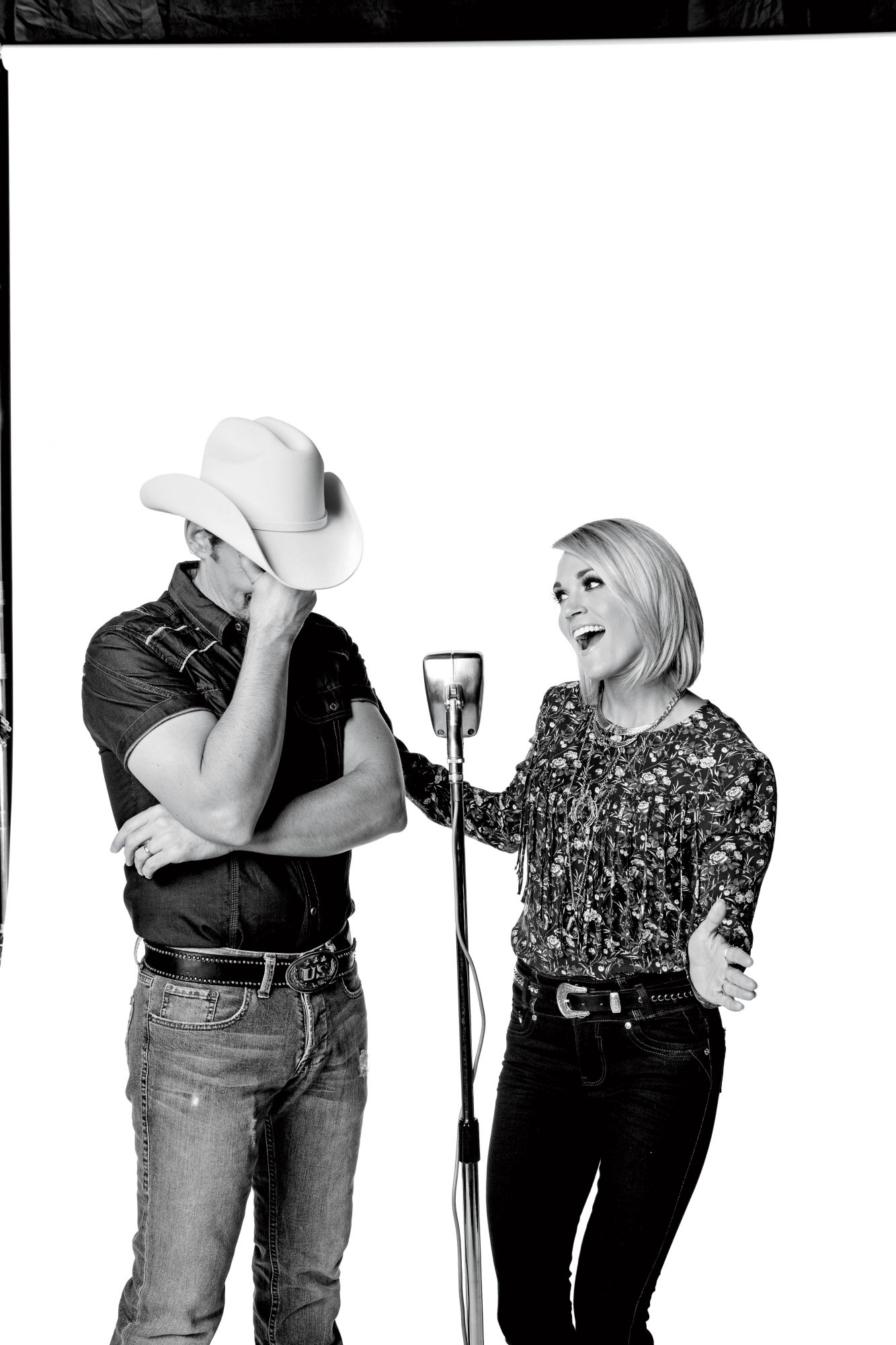 Brad and Carrie Laughing