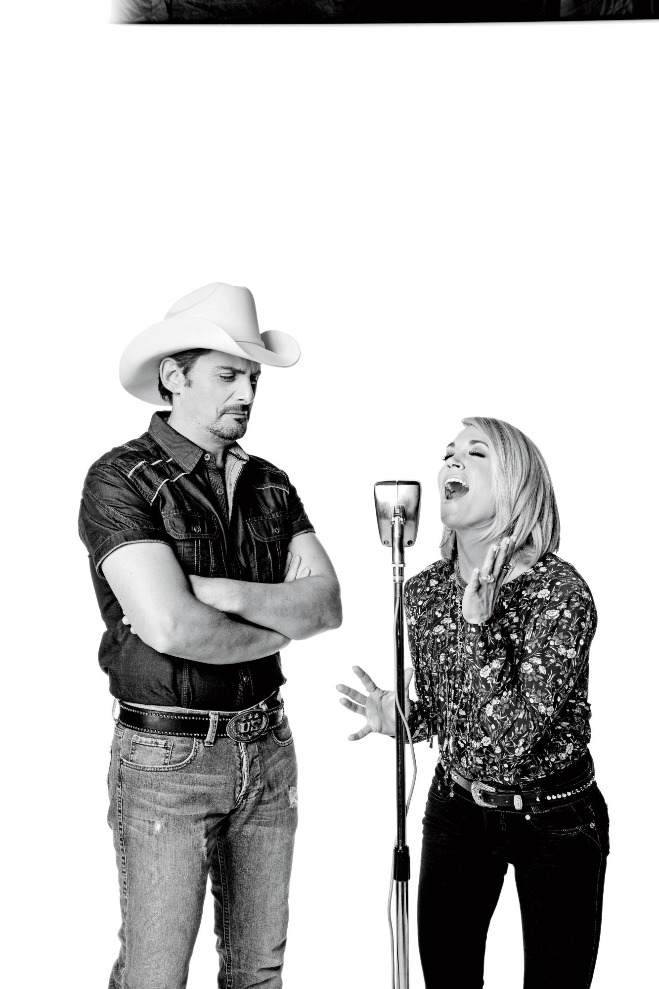 Brad and Carrie Singing