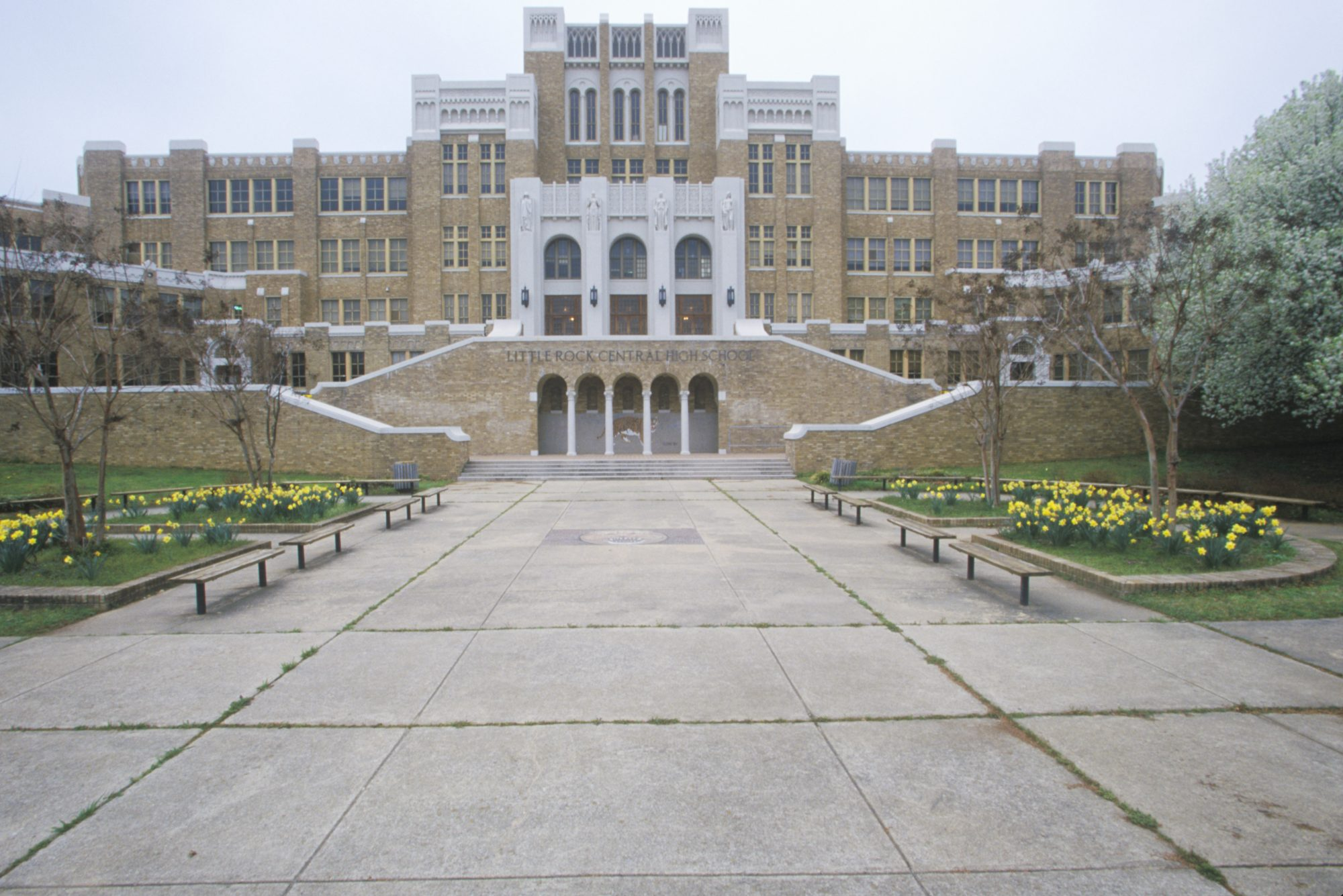 Little Rock Central High School in Arkansas