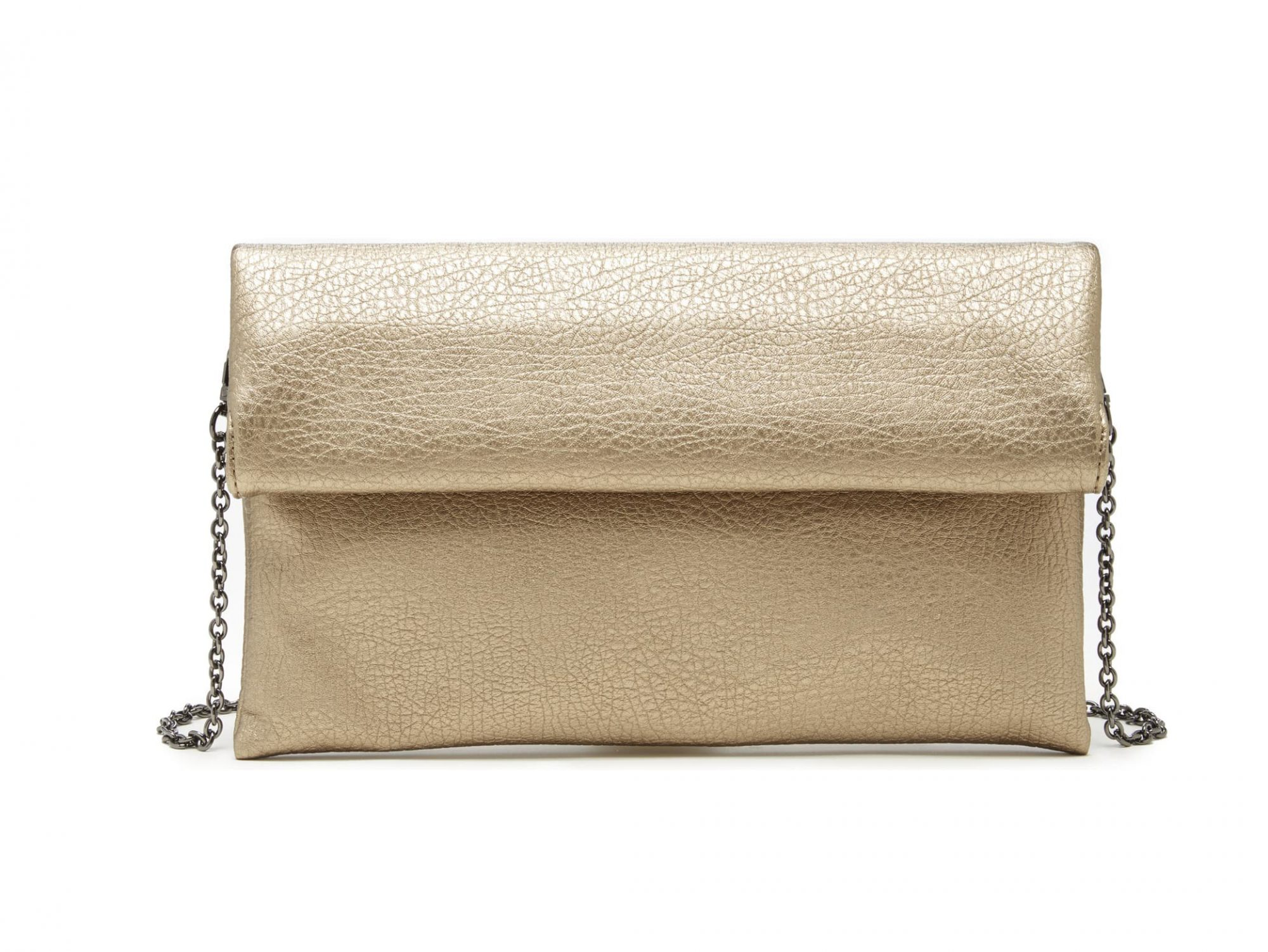 Sole Society Metallic Faux Leather Clutch