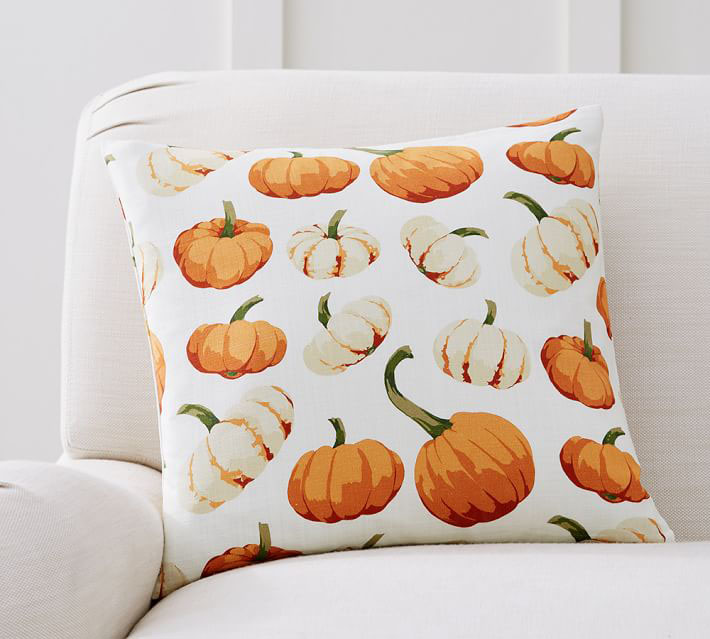 Scattered Pumpkin Pillow Cover