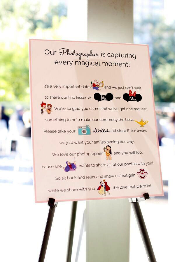 Celver Disney Wedding Sign