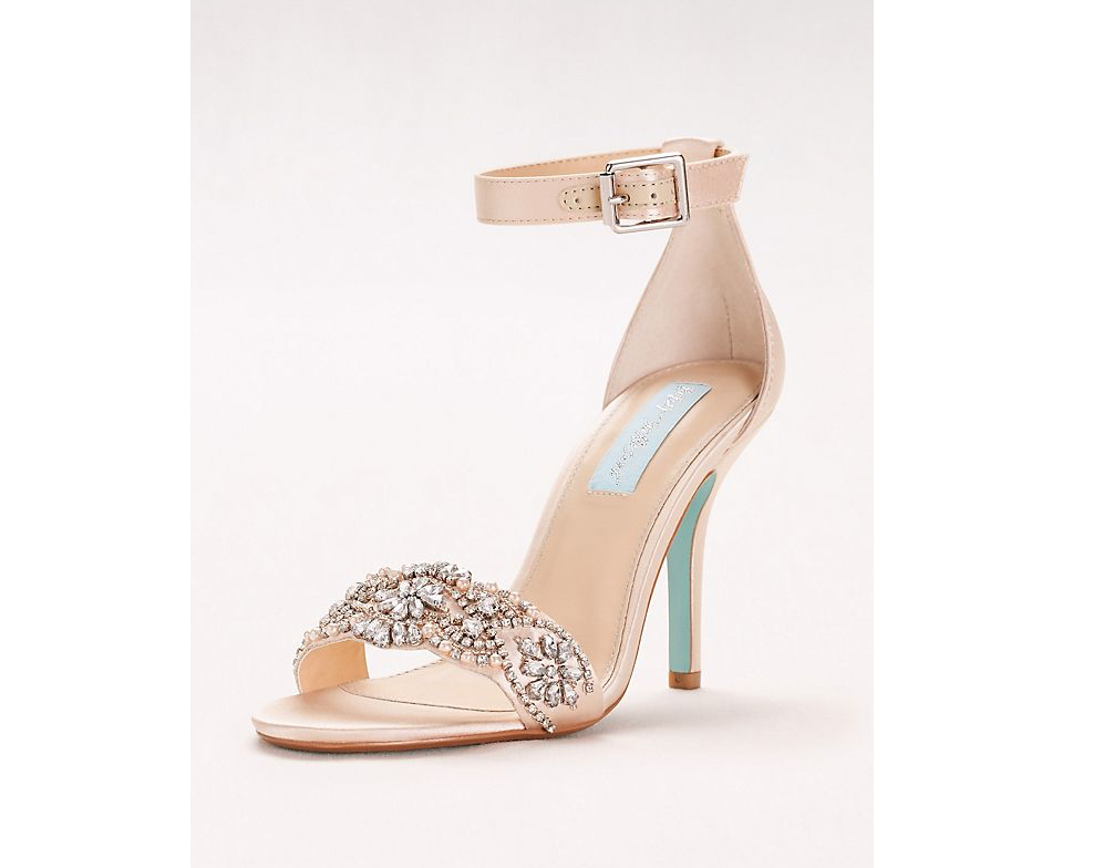 32b2837412ad5a Embellished High Heel Sandals with Ankle Strap. Traditional Lace Pumps