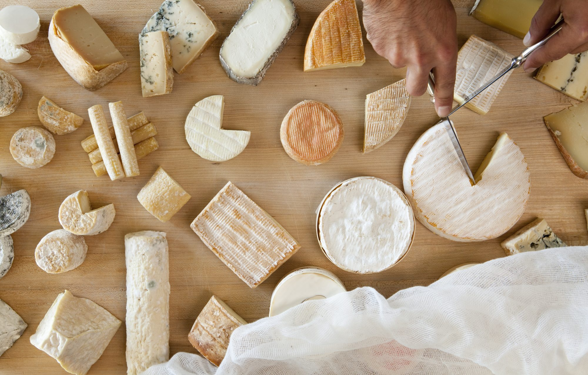 Lots of Cheese on Table