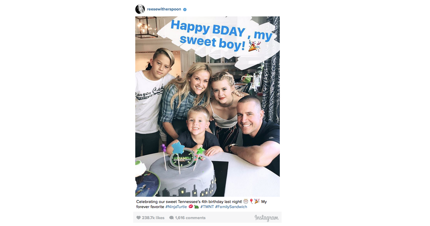 Reese Witherspoon Celebrates Son's 4th Birthday