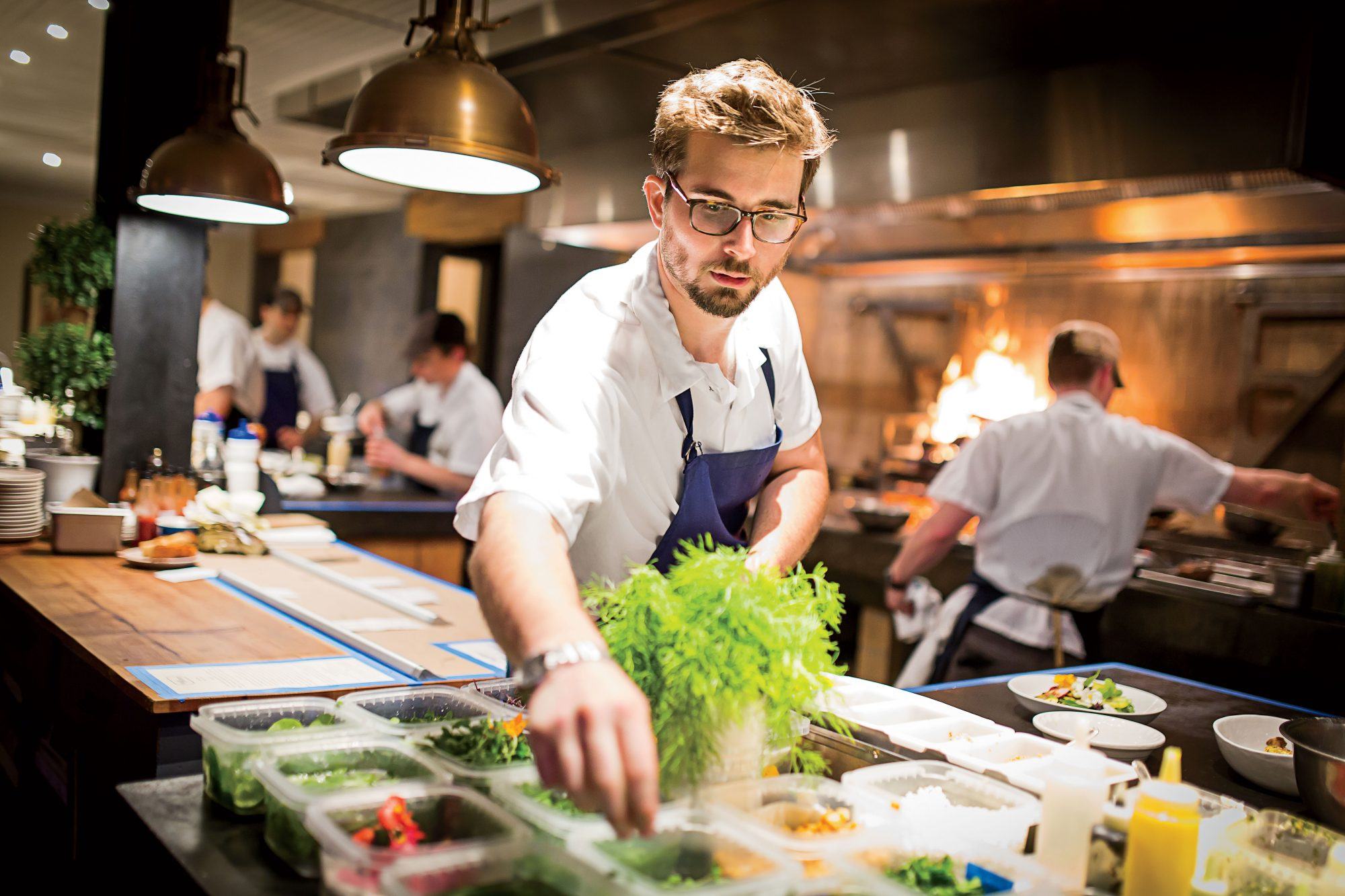 Chef Jeremiah Langhorne at The Dabney in Washington, DC