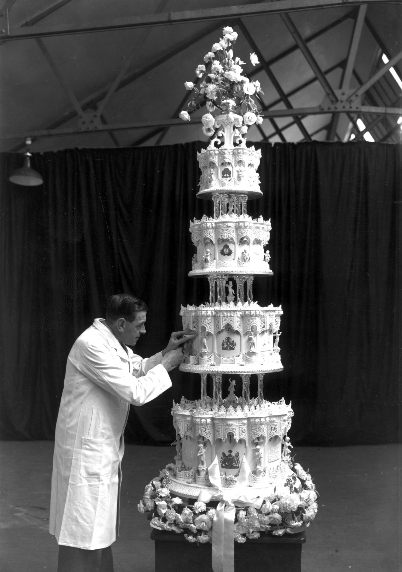 Vintage Tall Wedding Cake