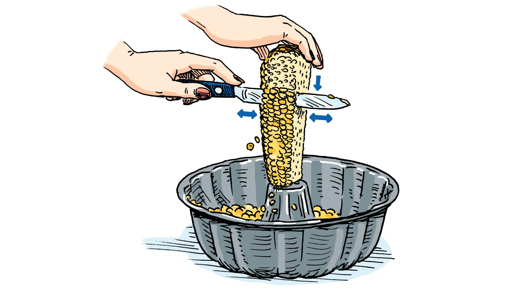 Cutting Corn Off Cob